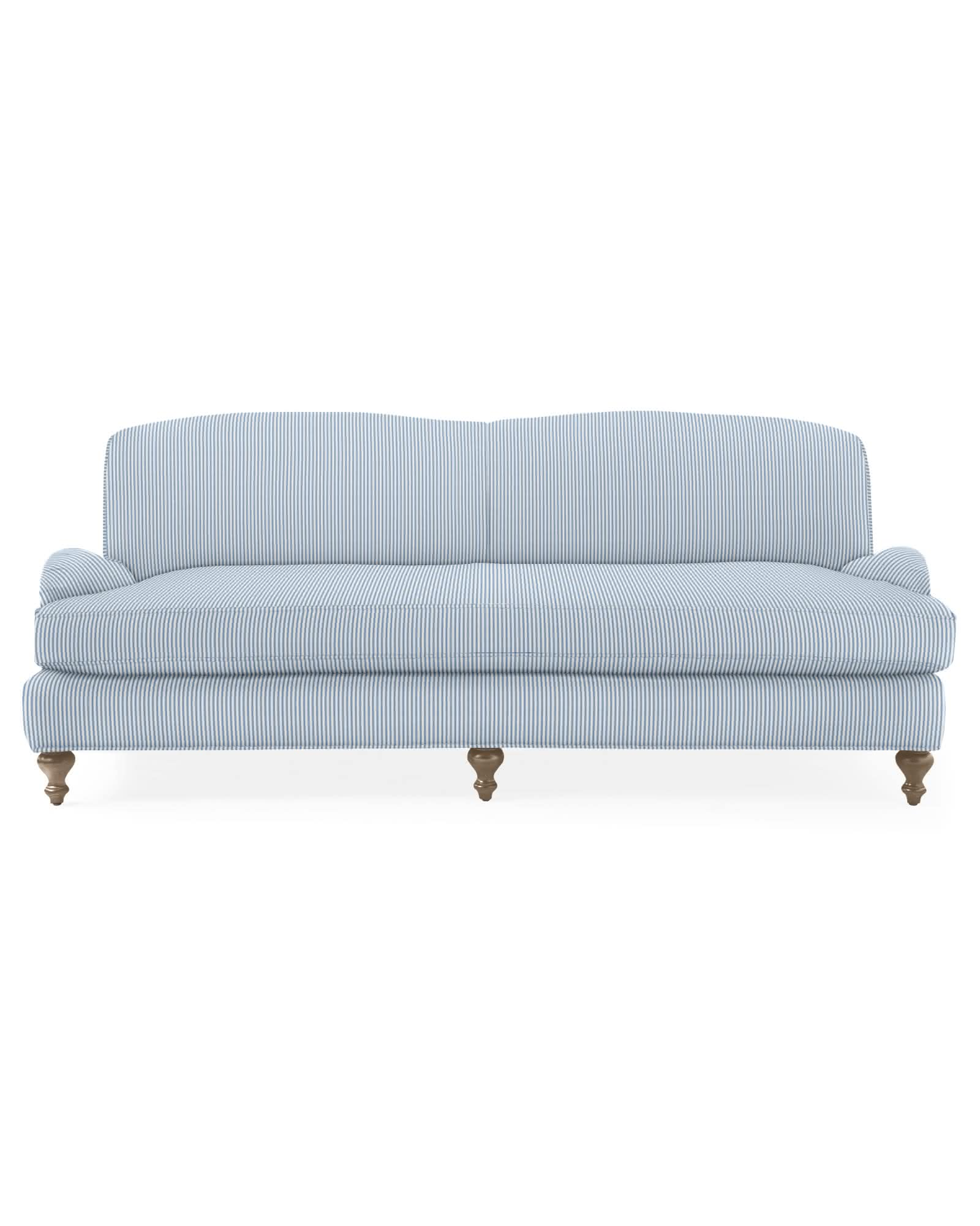 Miramar Sofa with Bench Seat - Perennials® Pinstripe,