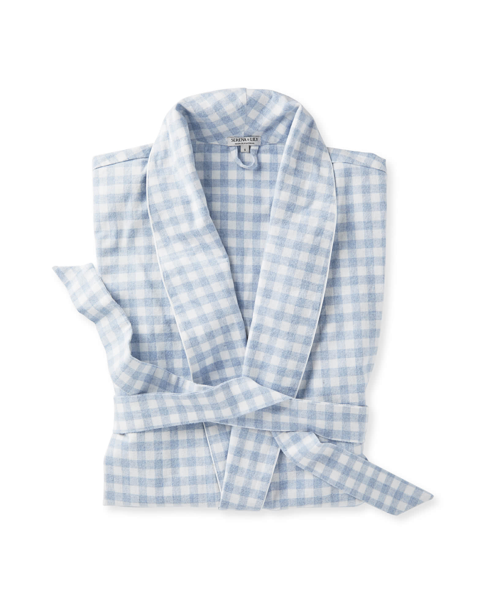 Dalton Flannel Robe, Chambray