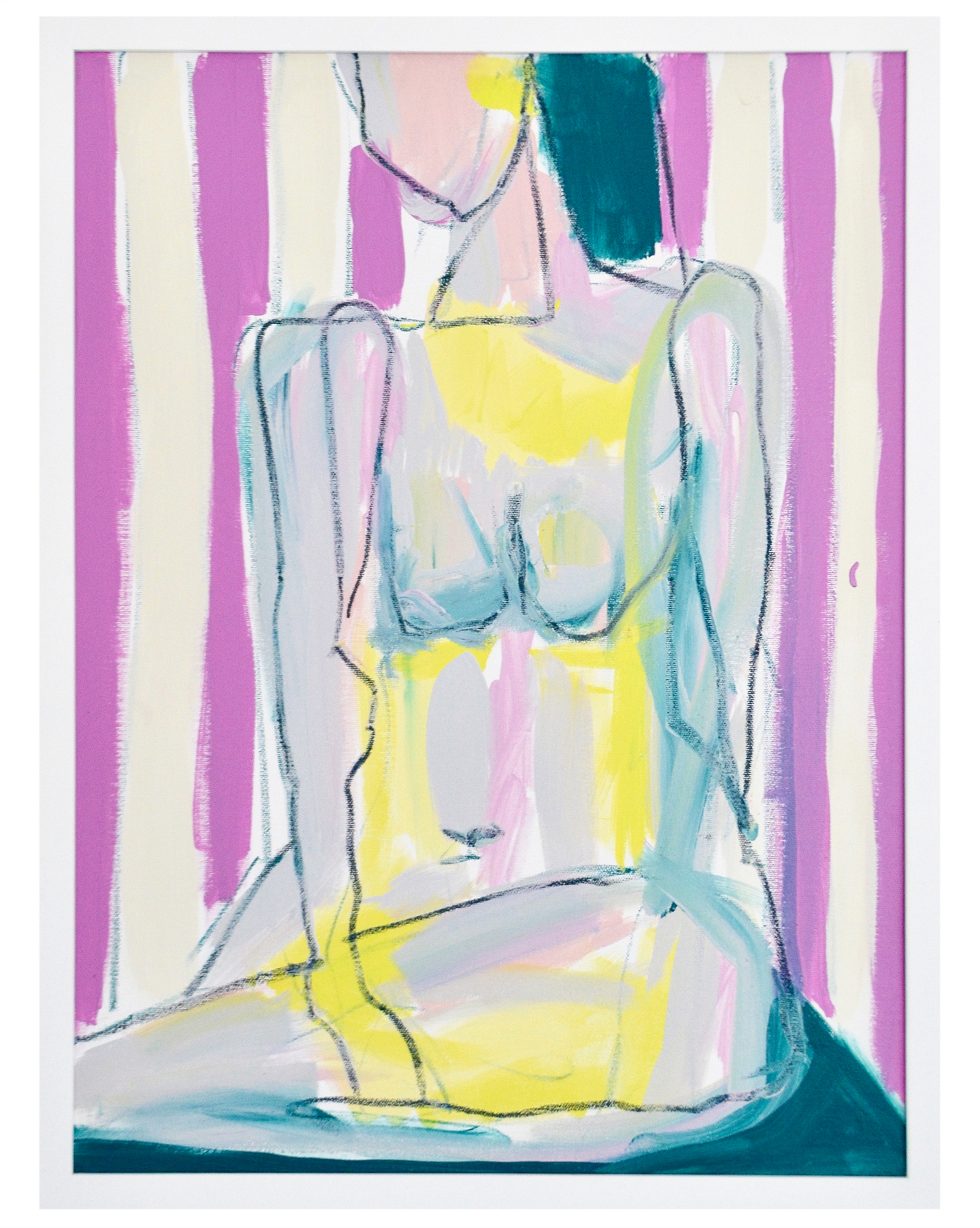 """Nude with Stripes"" by Allison Meyler,"