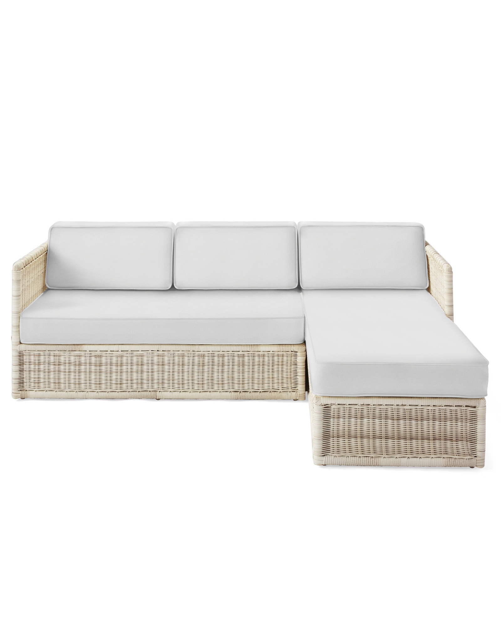 Cushion Cover for Pacifica Chaise Sectional, Sunbrella Canvas White