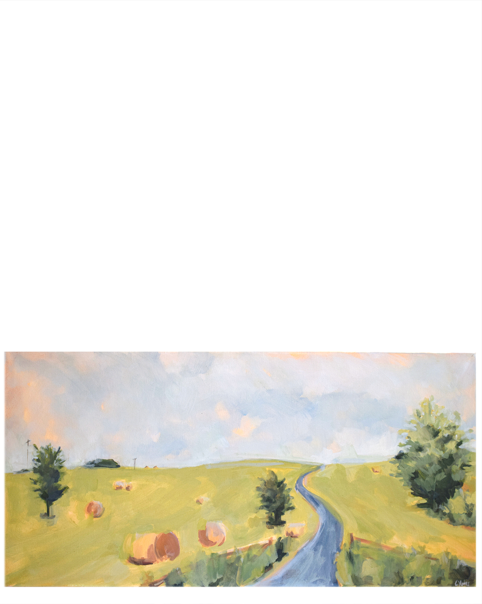 """""""Haybales Along the Road"""" by Christen Yates,"""