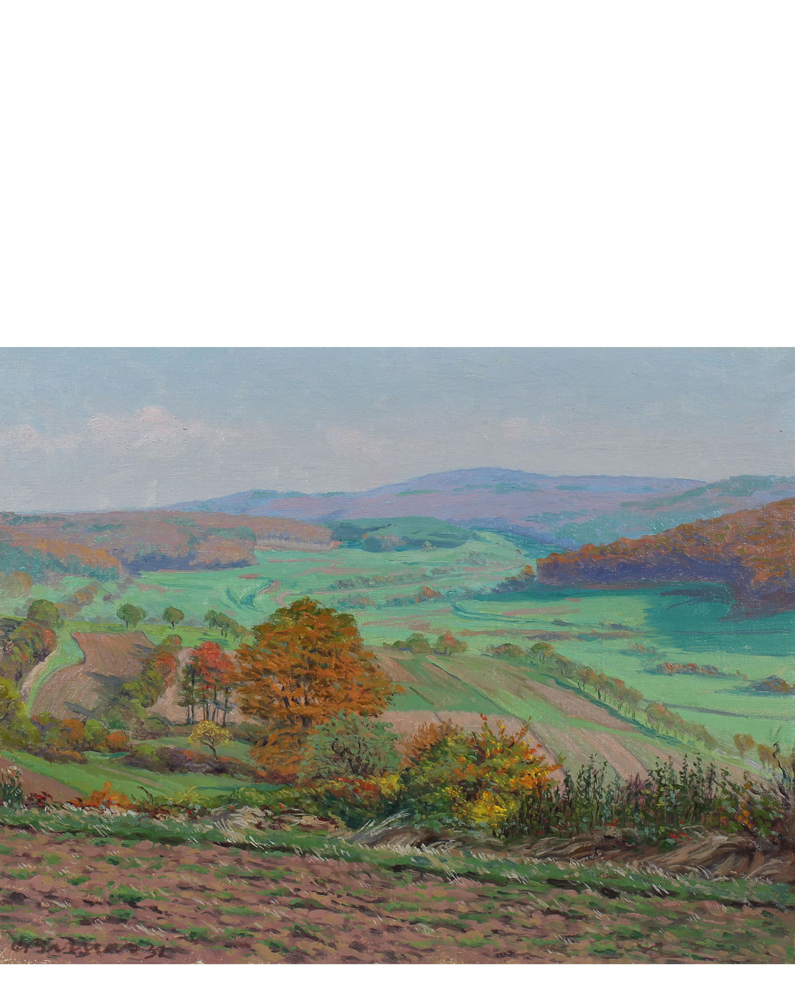 """""""View From Dietrichberg in Autumn 1931"""" by Carl Barnas"""