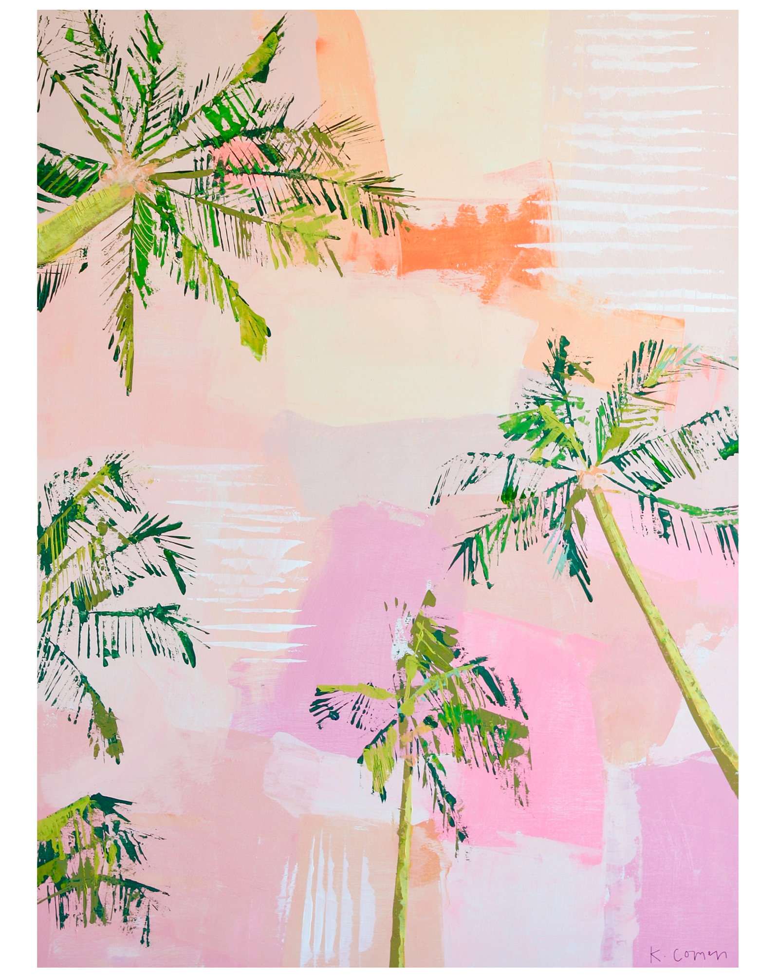 """Sunset Palm"" by Kate Comen,"