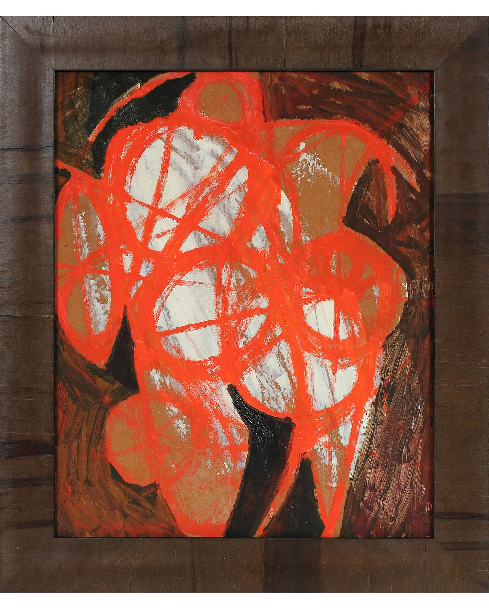 """""""Bright Modernist Abstract in Orange"""" by Calvin Anderson"""