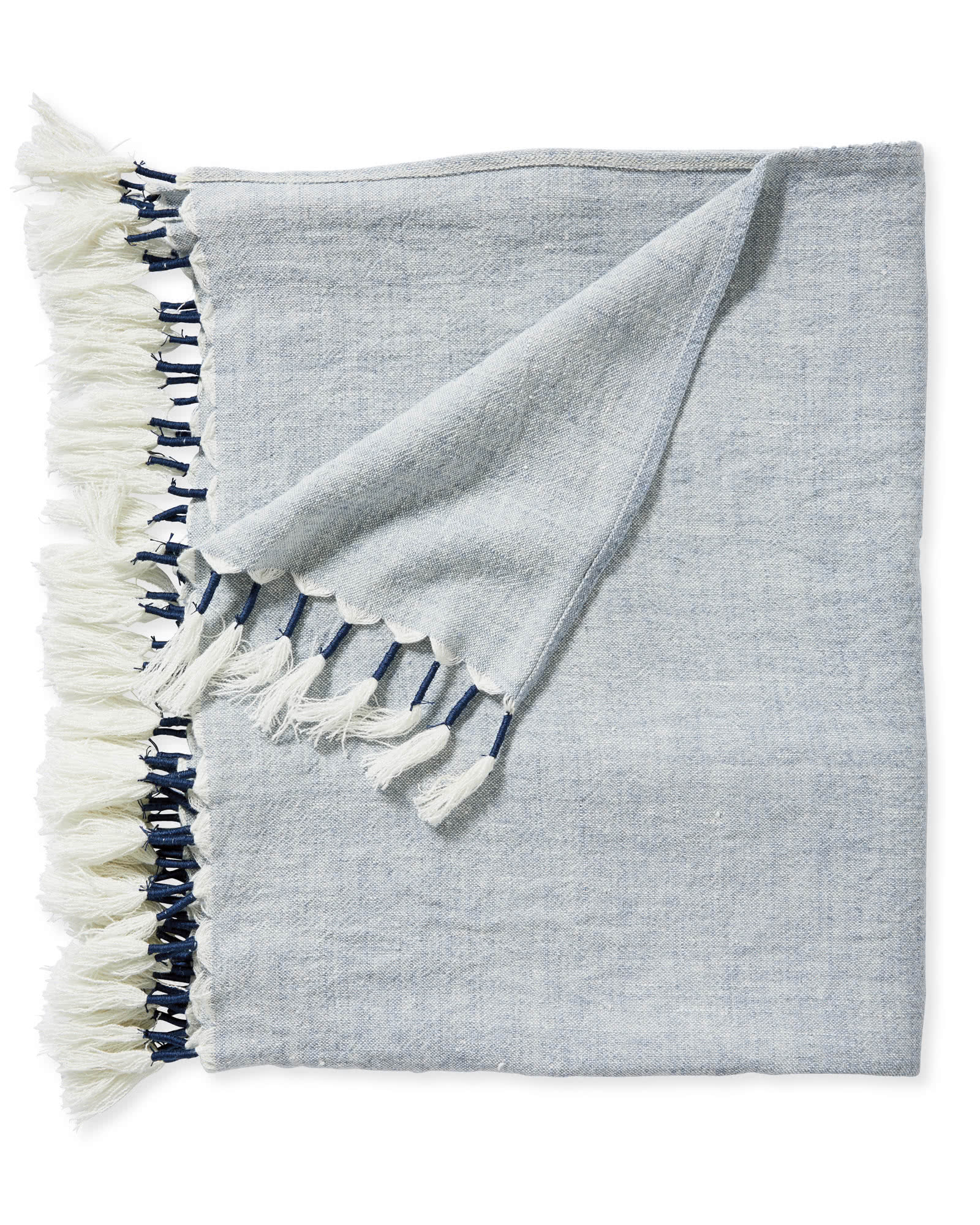 Topanga Linen Throw, Blue