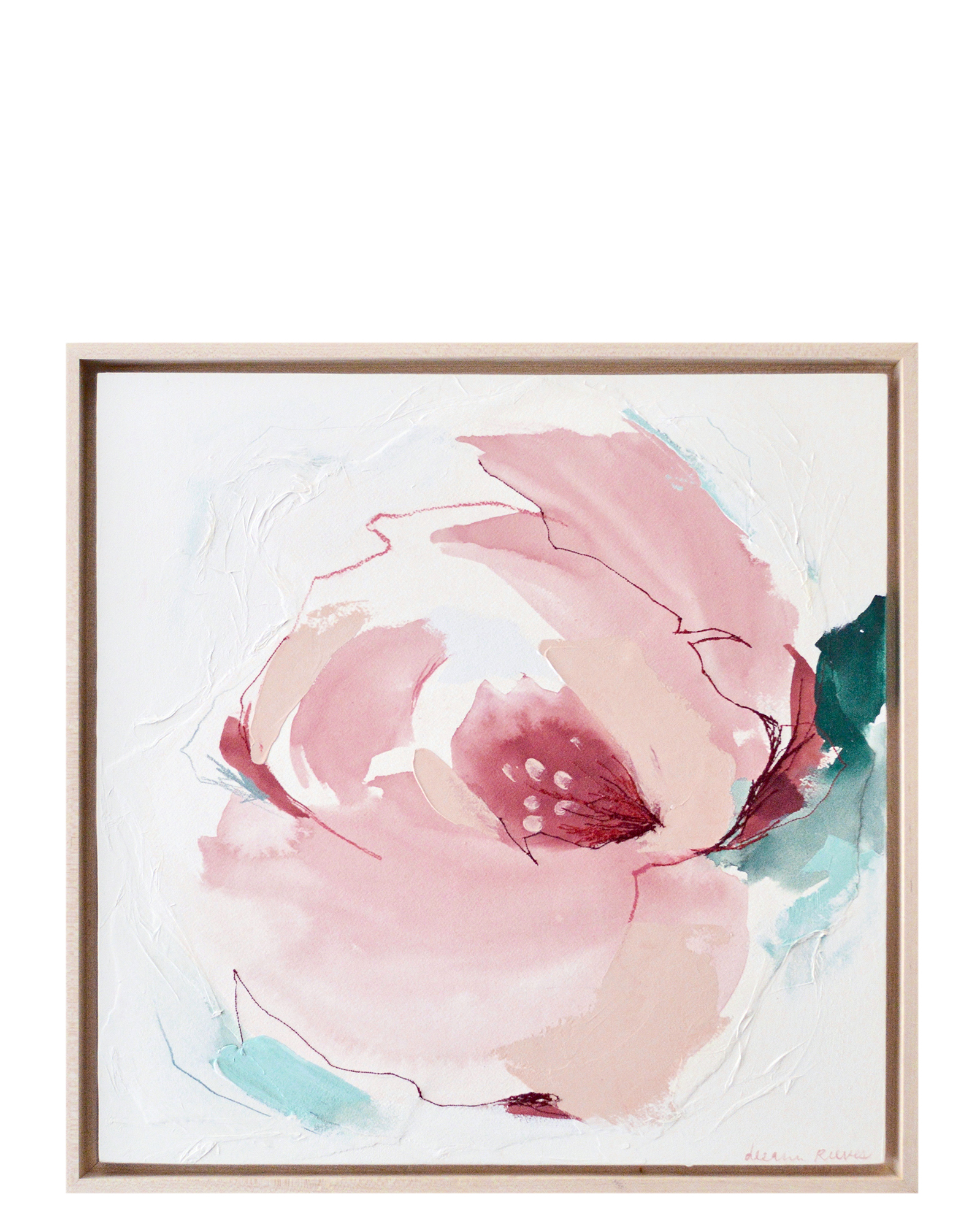 """Abstract Peony"" by Deeann Rieves,"