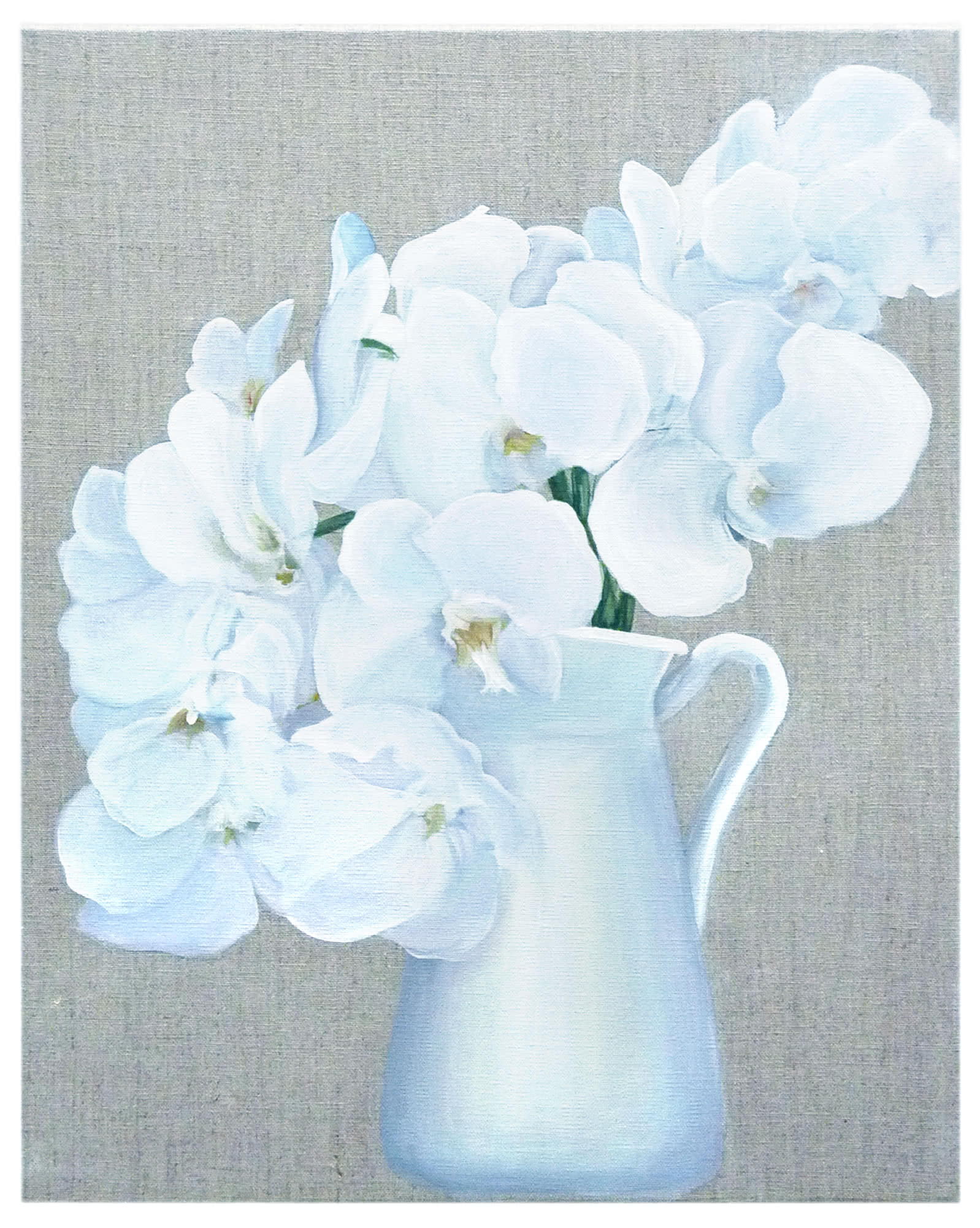 """""""Orchids on Linen"""" by Carol Saxe,"""
