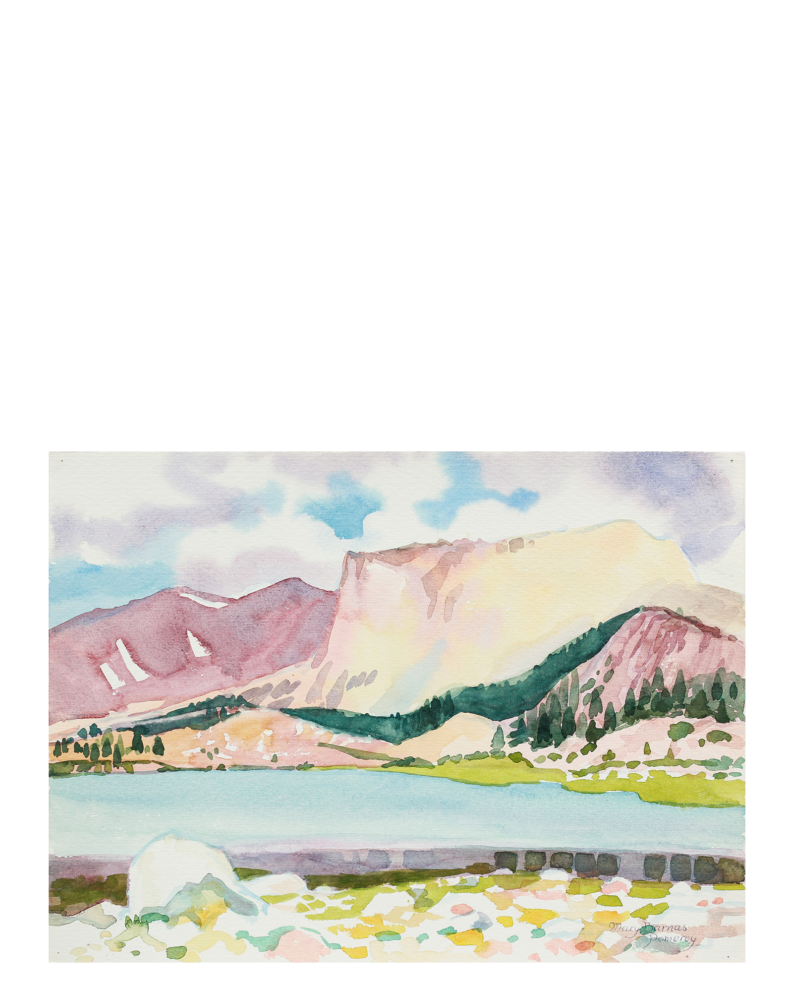 """South Fork Lake"" by Mary Pomeroy,"