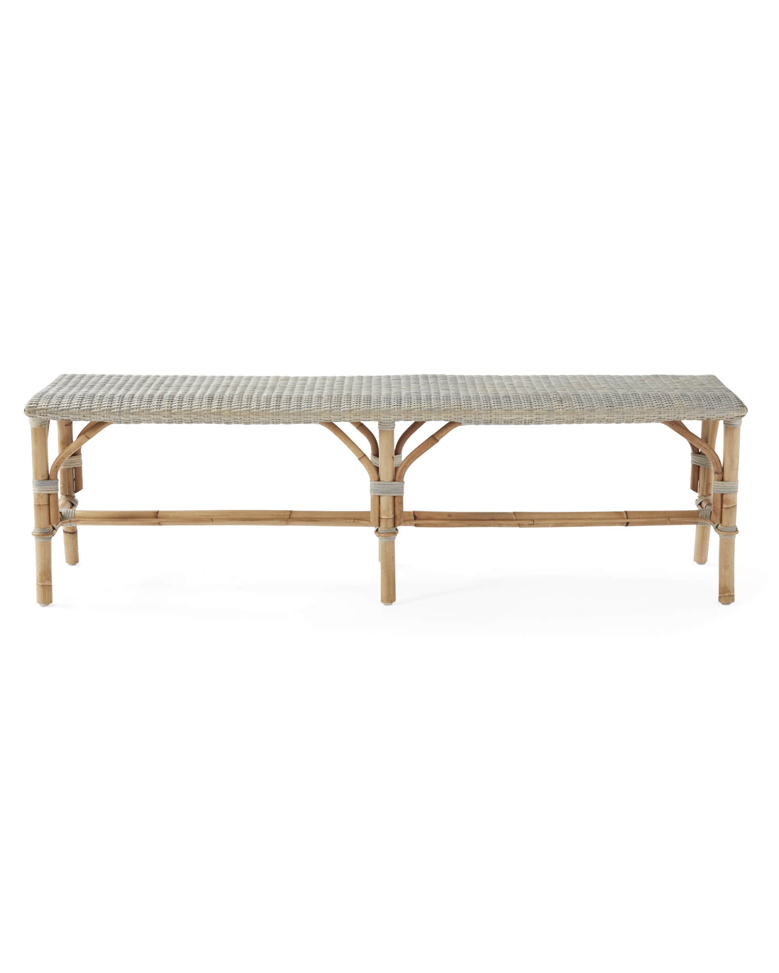 Sunwashed Riviera Backless Bench, Mist