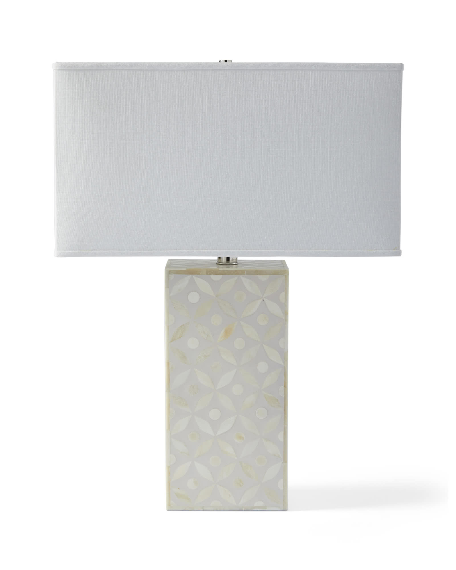 Portland Bone Inlay Table Lamp, Natural
