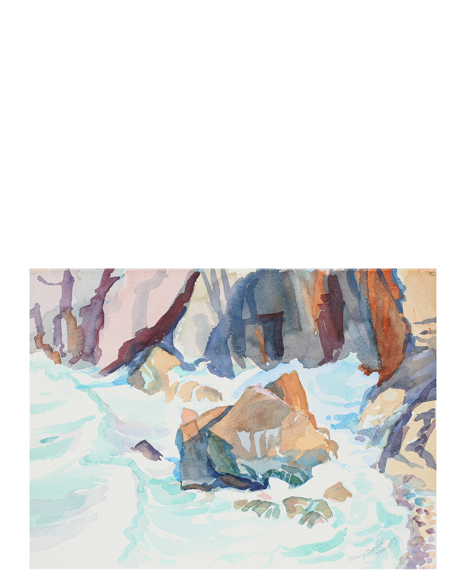 """""""Base of Sea Cliff"""" by Mary Pomeroy,"""