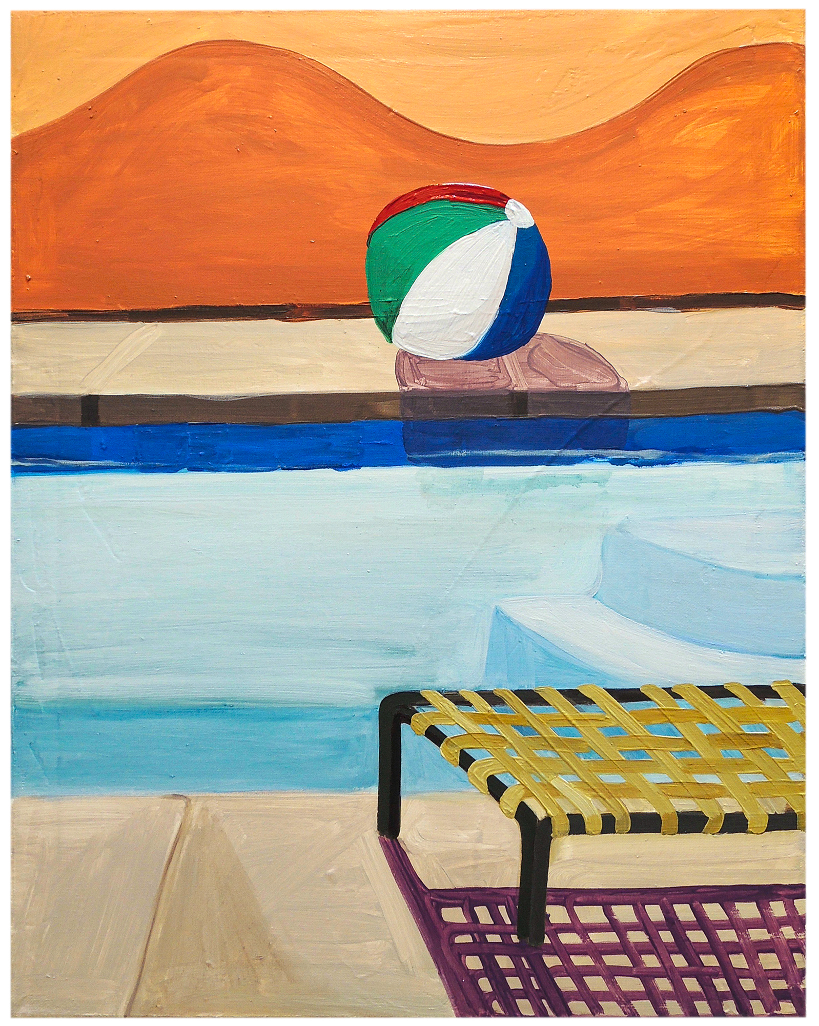 """""""Lounge Chair with Shadow"""" by Claire Elliott,"""