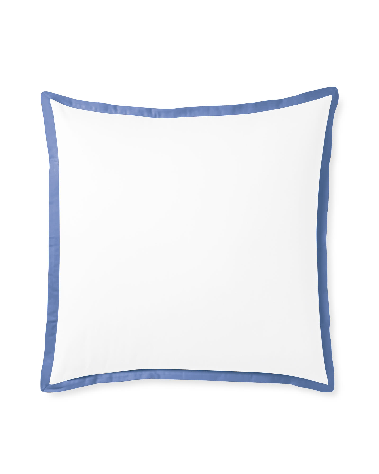 Border Frame Shams, French Blue