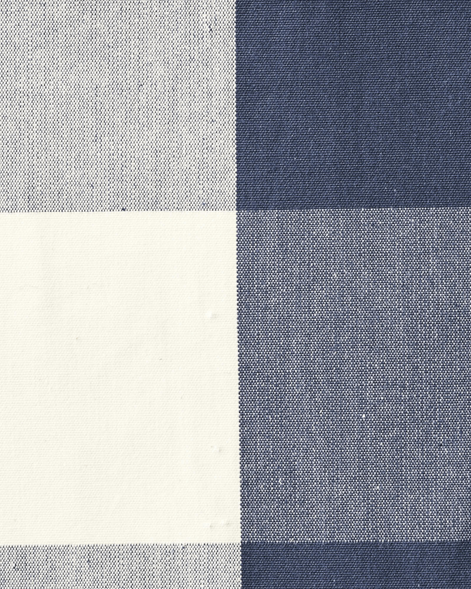 Cotton Gingham Fabric, Navy