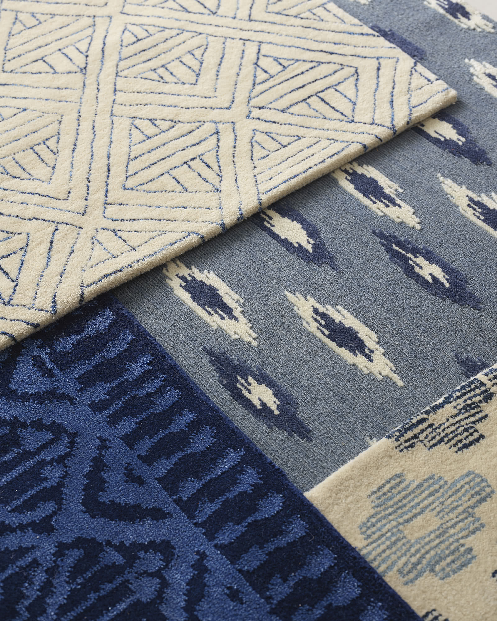 Milan Hand-Knotted Rug, Navy