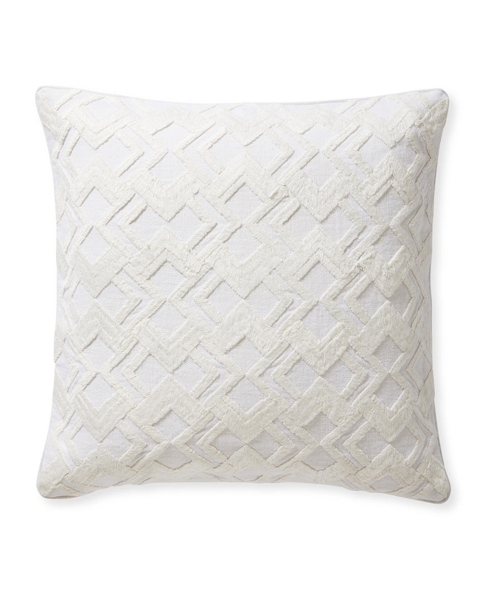 Paige Pillow Cover, Ivory
