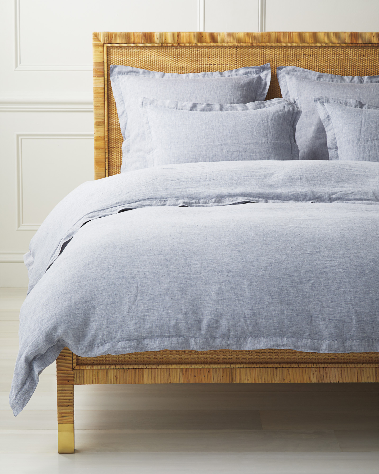 Cavallo Linen Duvet Cover, Navy Chambray
