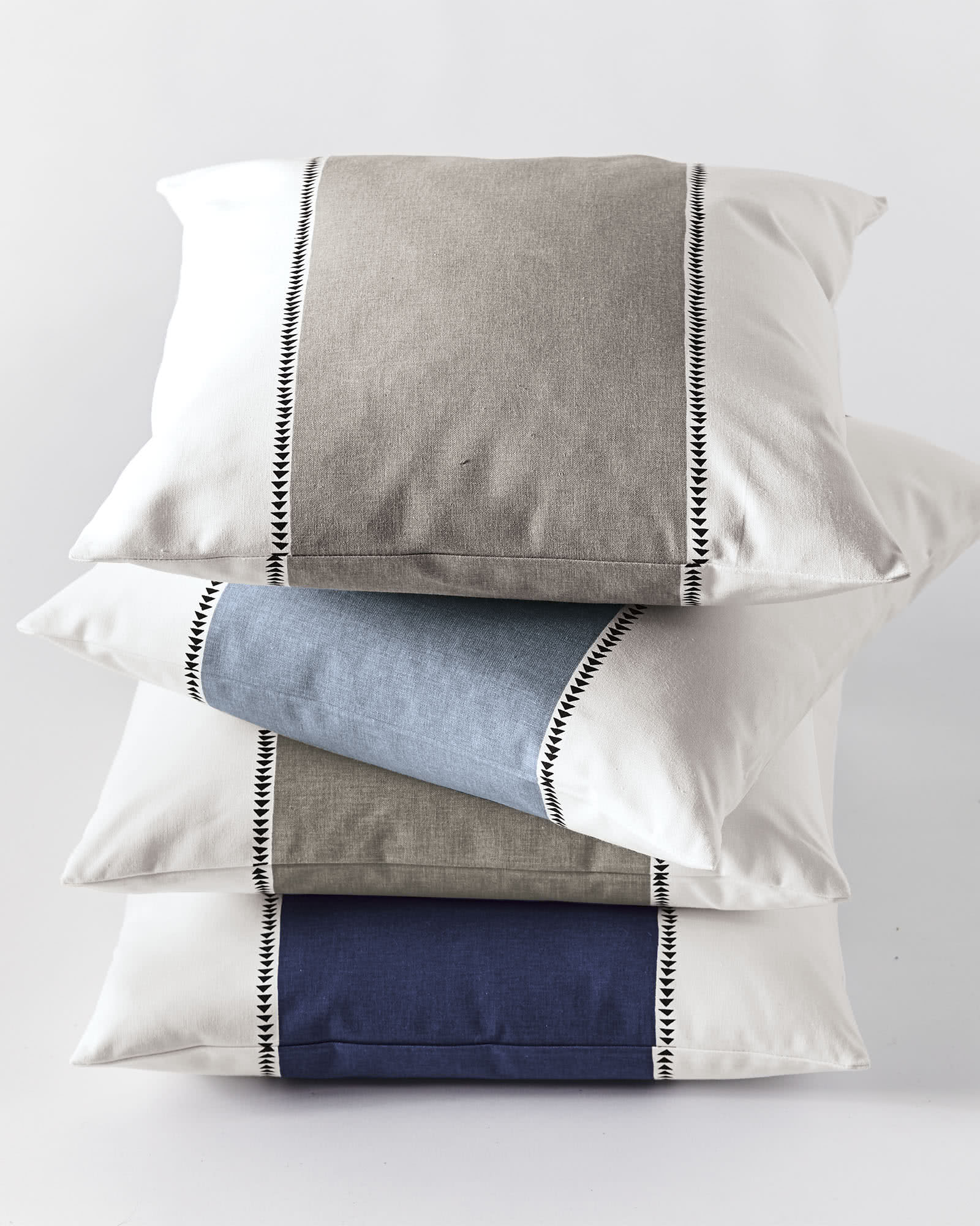 Racing Stripe Pillow Covers