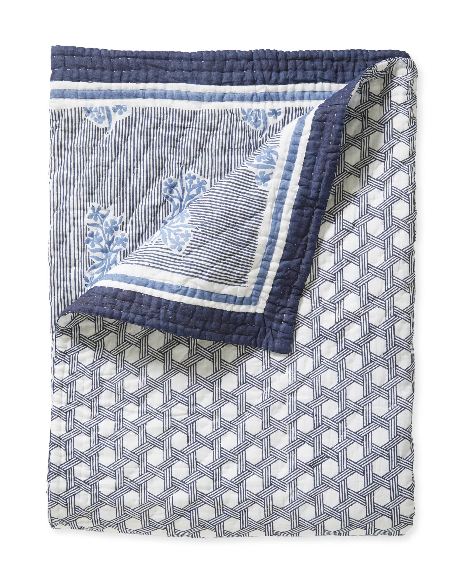 Amalfi Quilt, Navy/Harbor