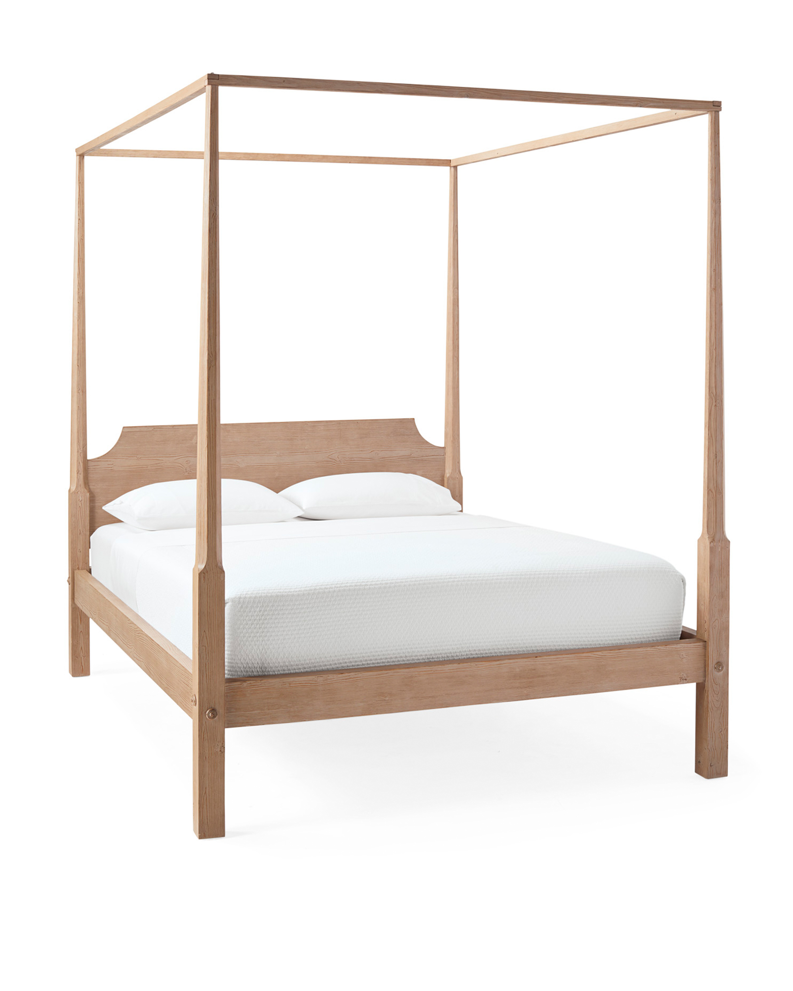 Whitaker Four Poster Bed, Sunbleached Pine