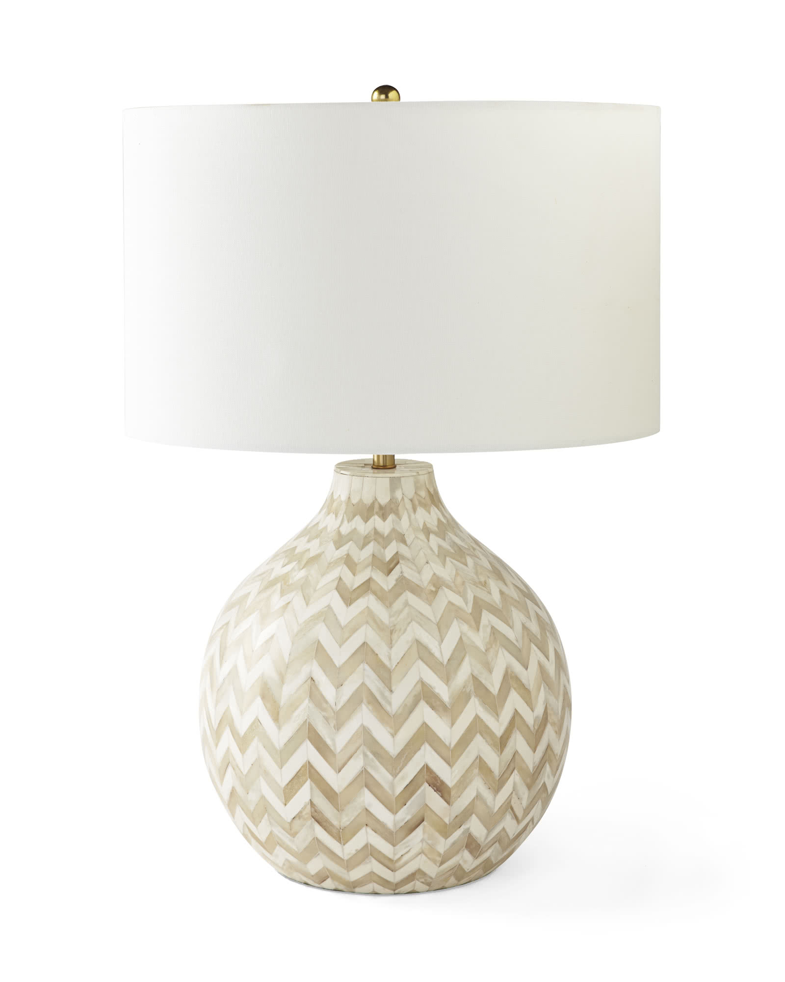 Westerly Bone Inlay Table Lamp, Natural
