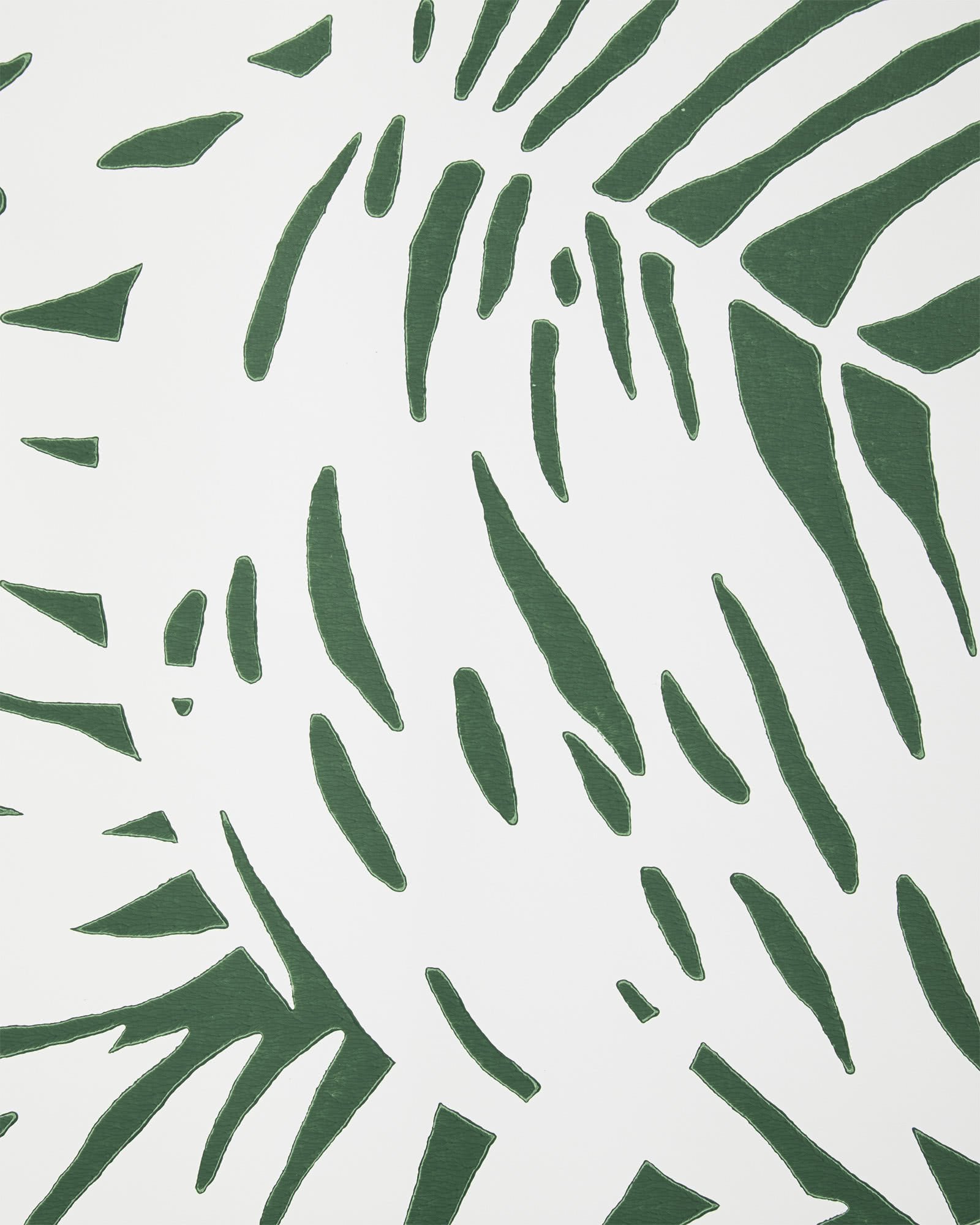 Palm Wallpaper Swatch, White/Green