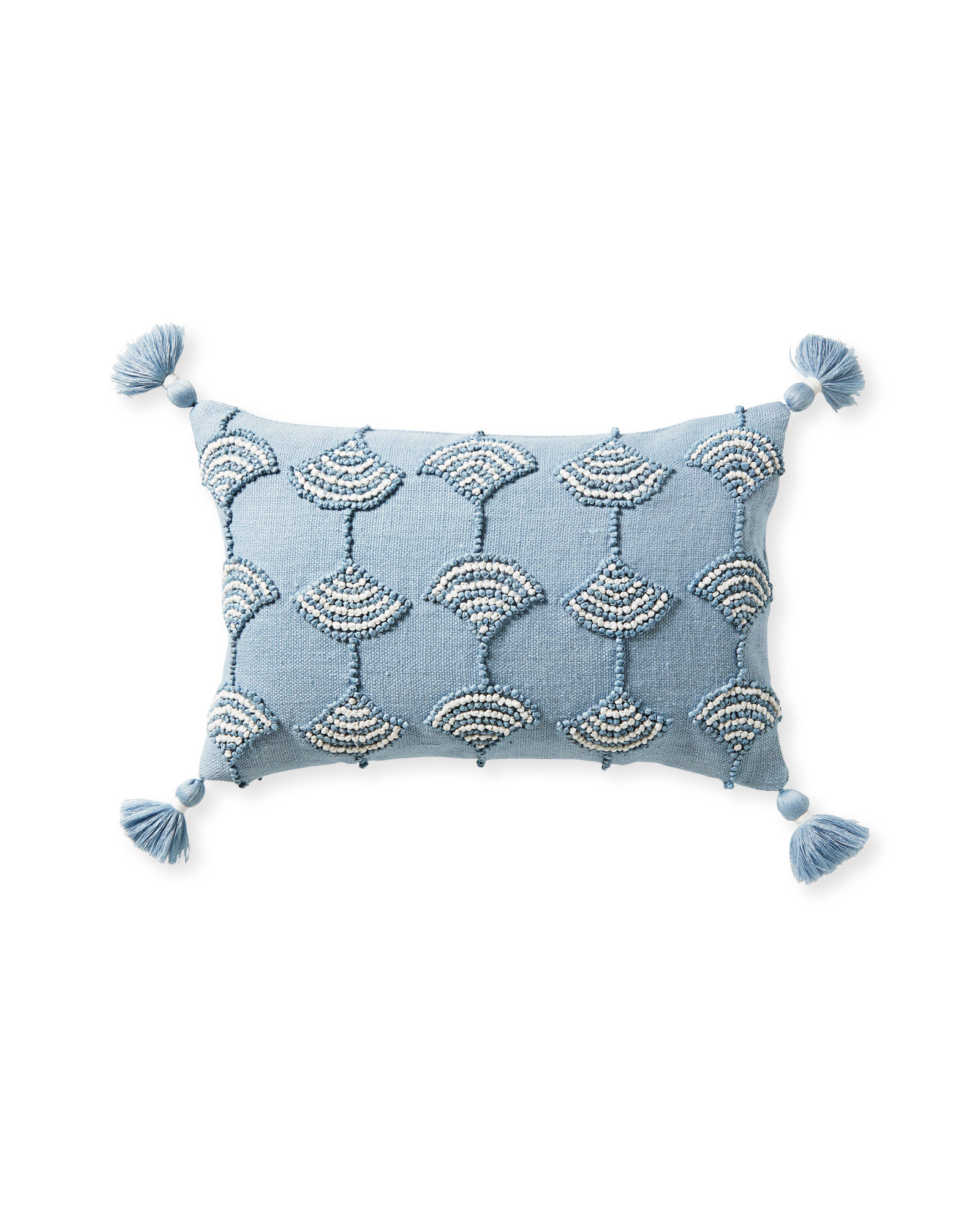 Isora Pillow Cover, Coastal Blue