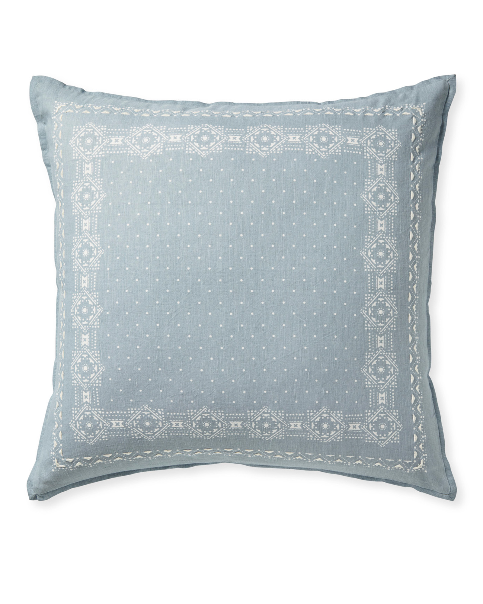 Oakdale Pillow Cover, Coastal Blue