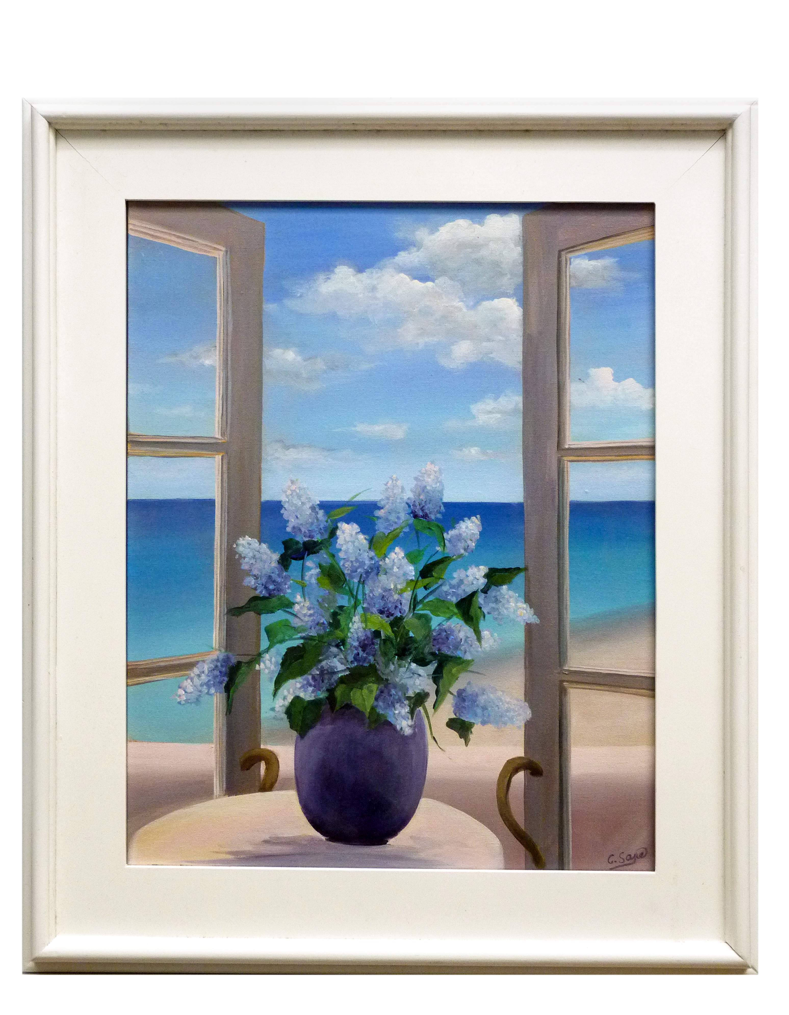 """""""Flowers by the Sea"""" by Carol Saxe,"""