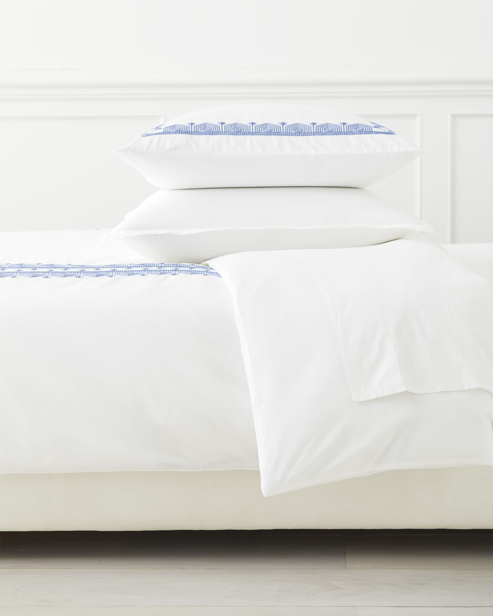 Olympia Bedding Set, French Blue