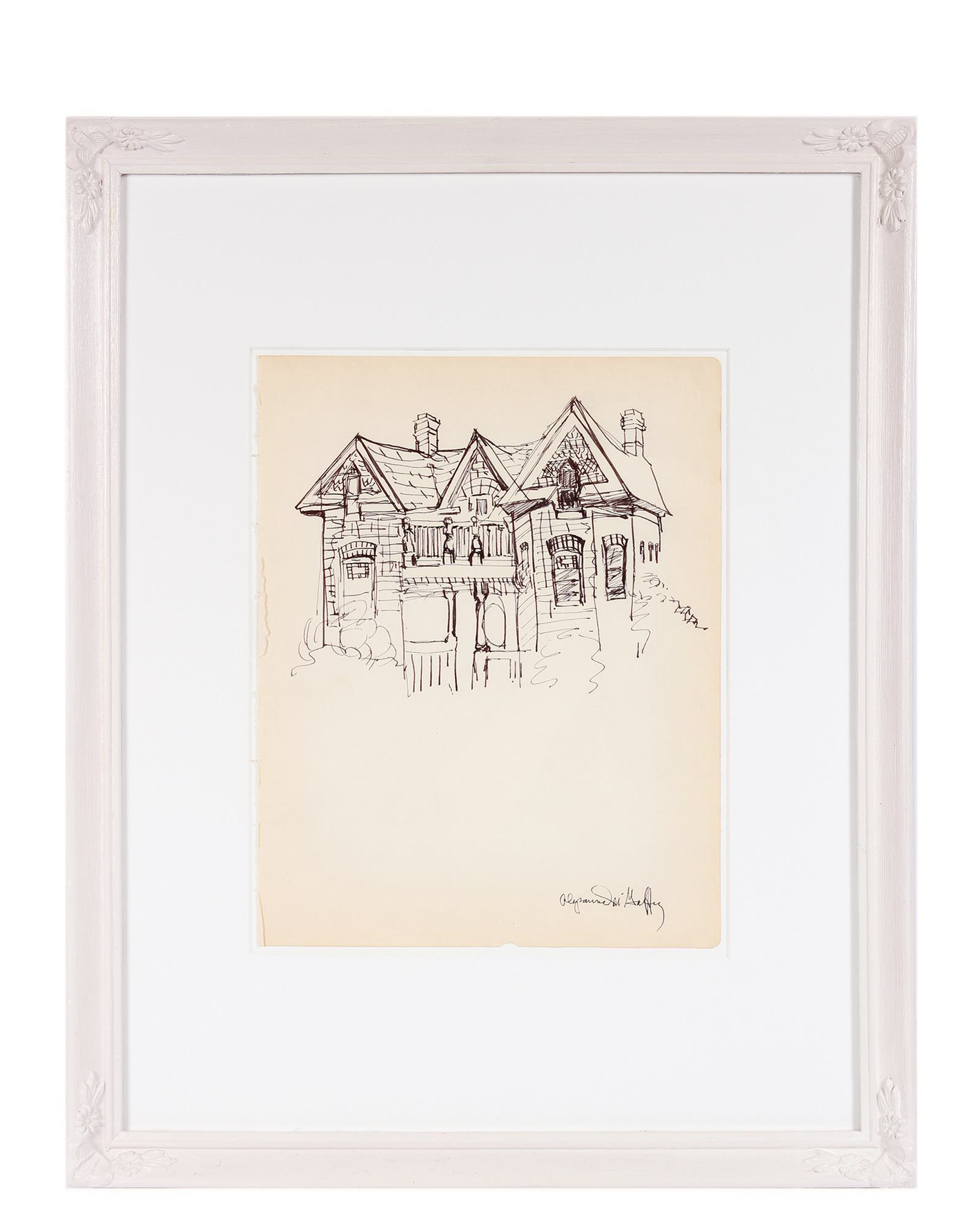 """Delicate Victorian-Gothic House Drawing"" by Alysanne McGaffey,"