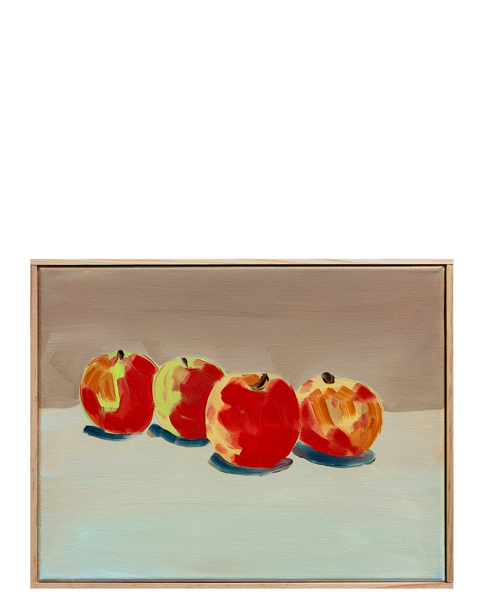 """""""Devoto Apples with Taupe and Payne's Grey"""" by Isabel Vexin,"""