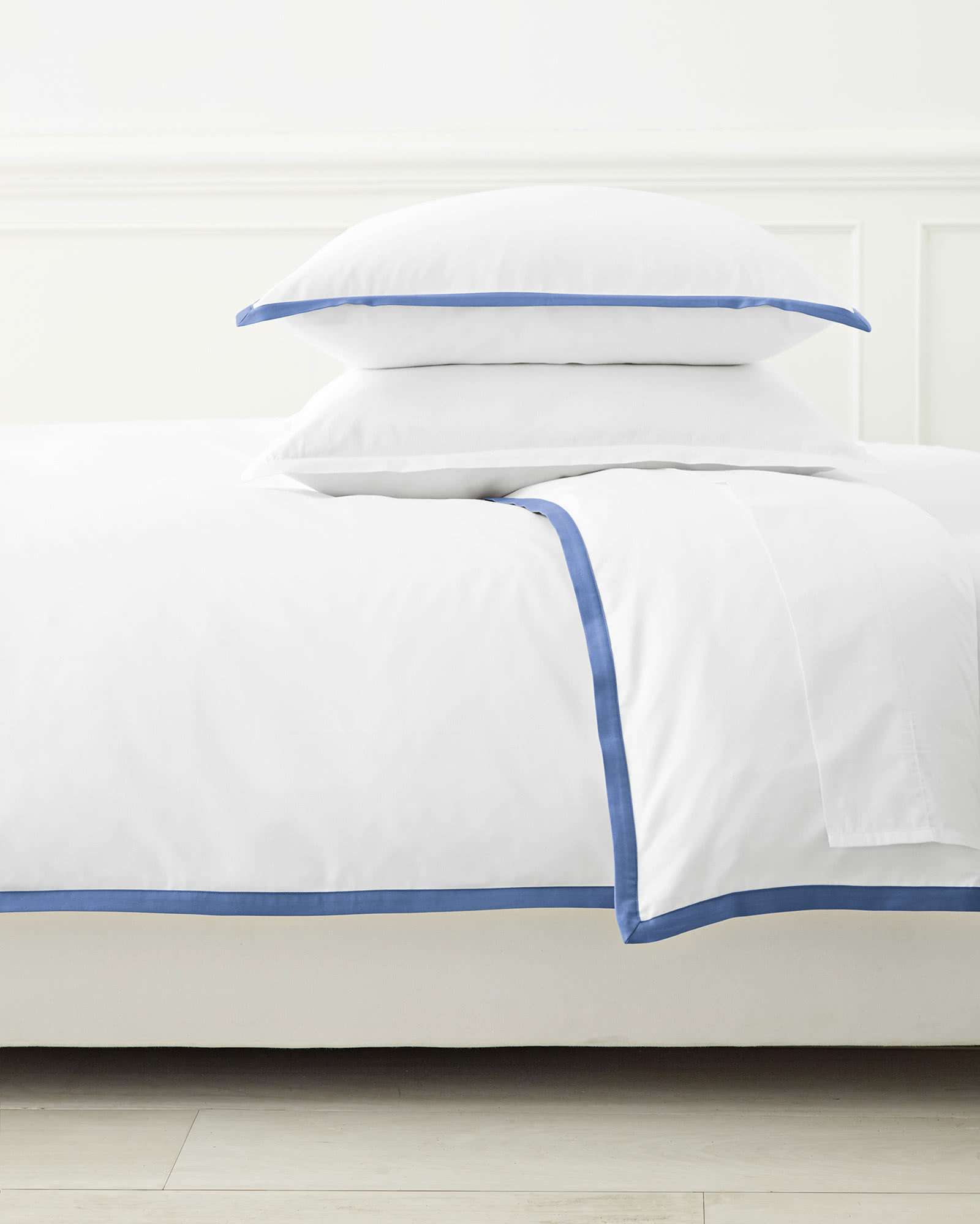 Border Frame Bedding Set, French Blue