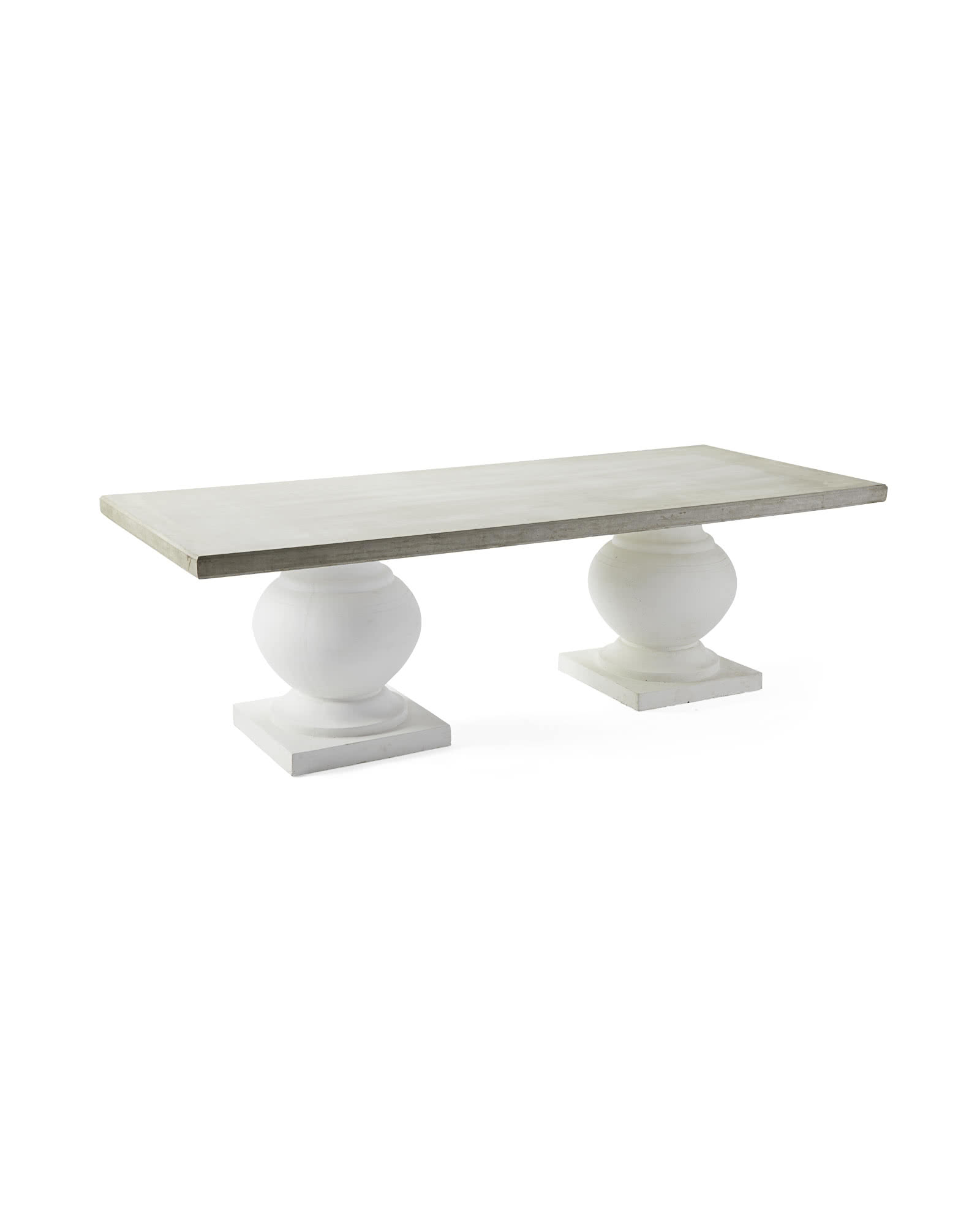 Terrace Dining Table, Fog/White