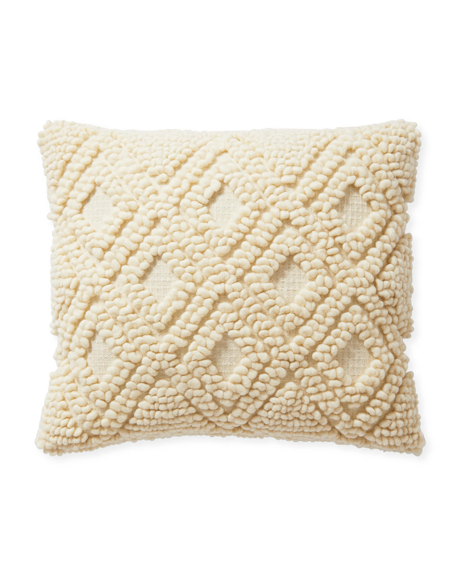 Amalie Pillow Cover, Ivory