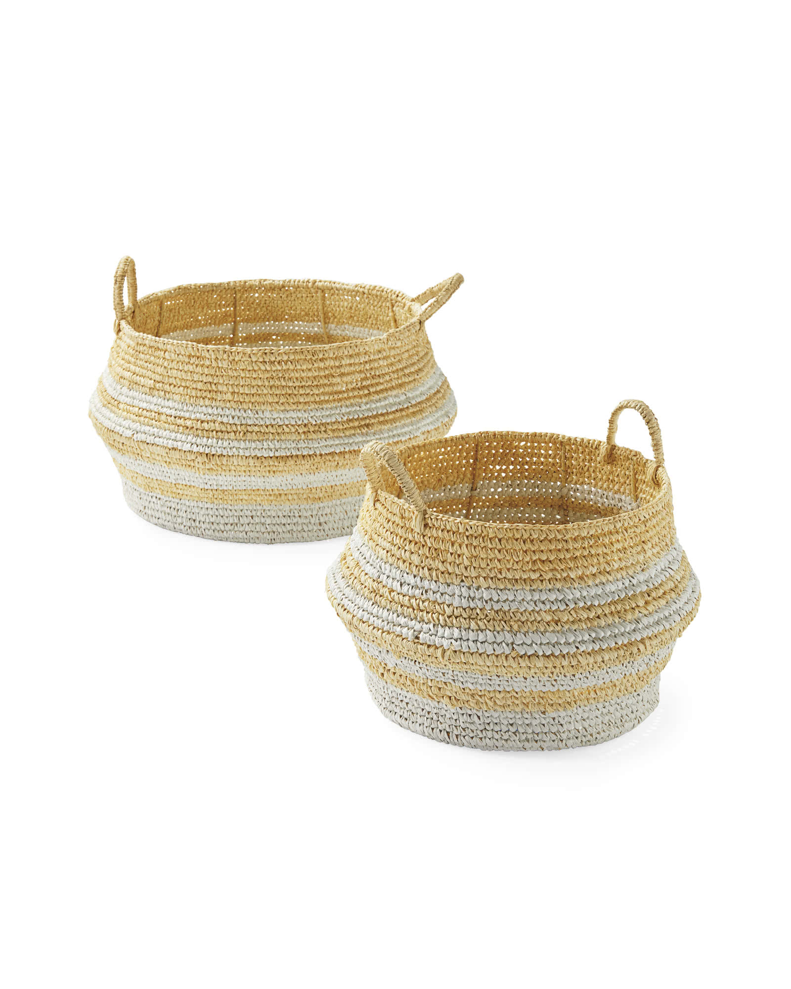 Ocean Point Striped Baskets,