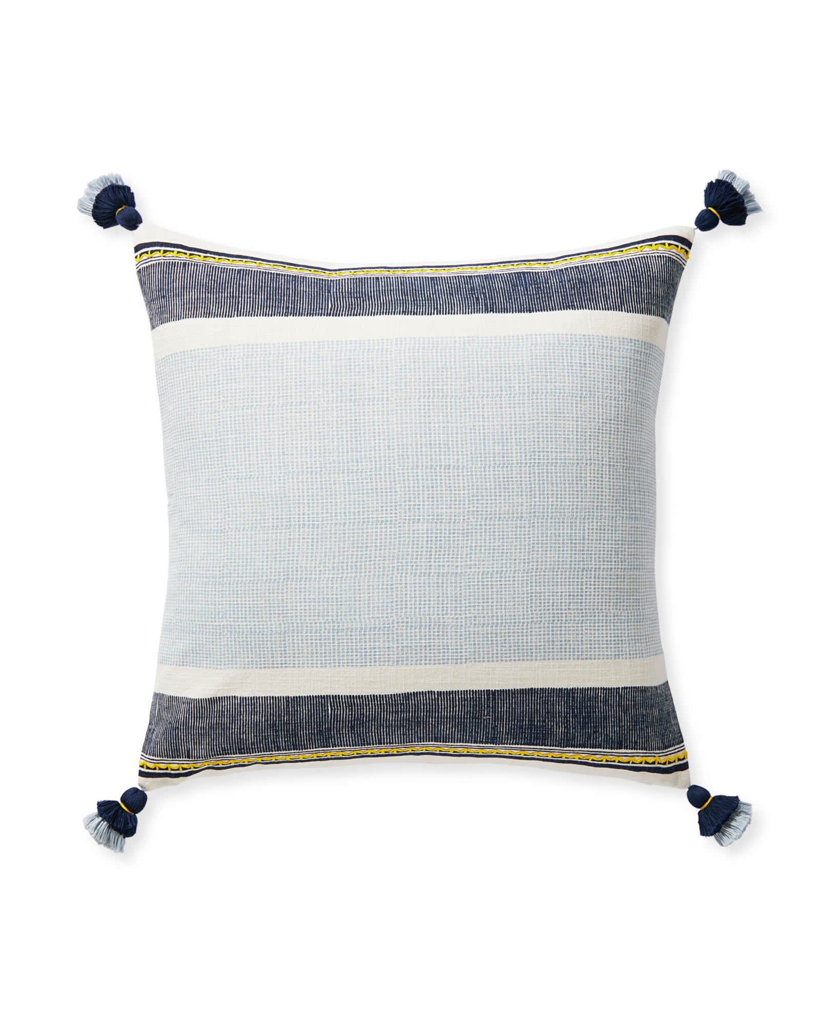 Aviv Pillow Cover, Navy