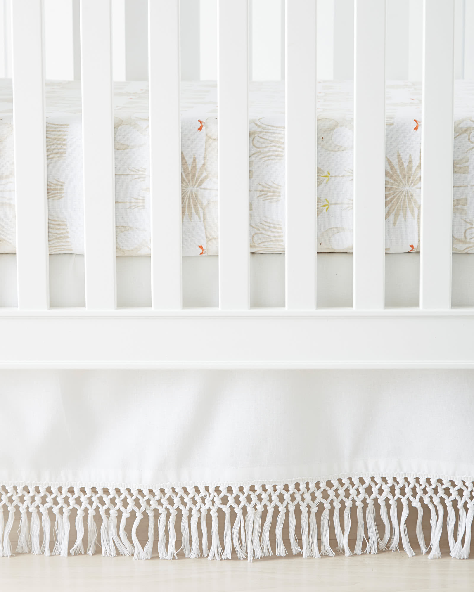 Macramé Crib Skirt, White