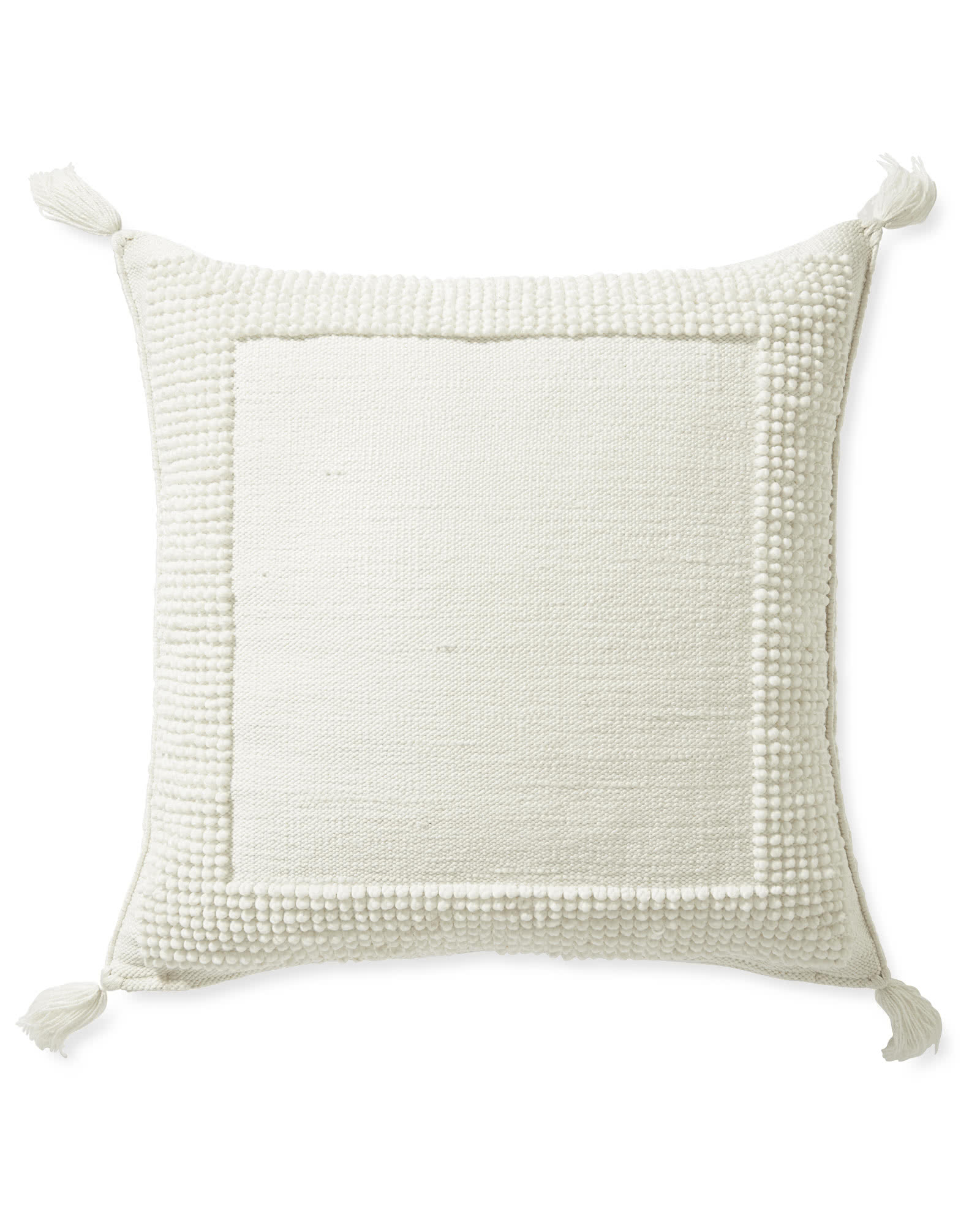 Montecito Floor Pillow, White