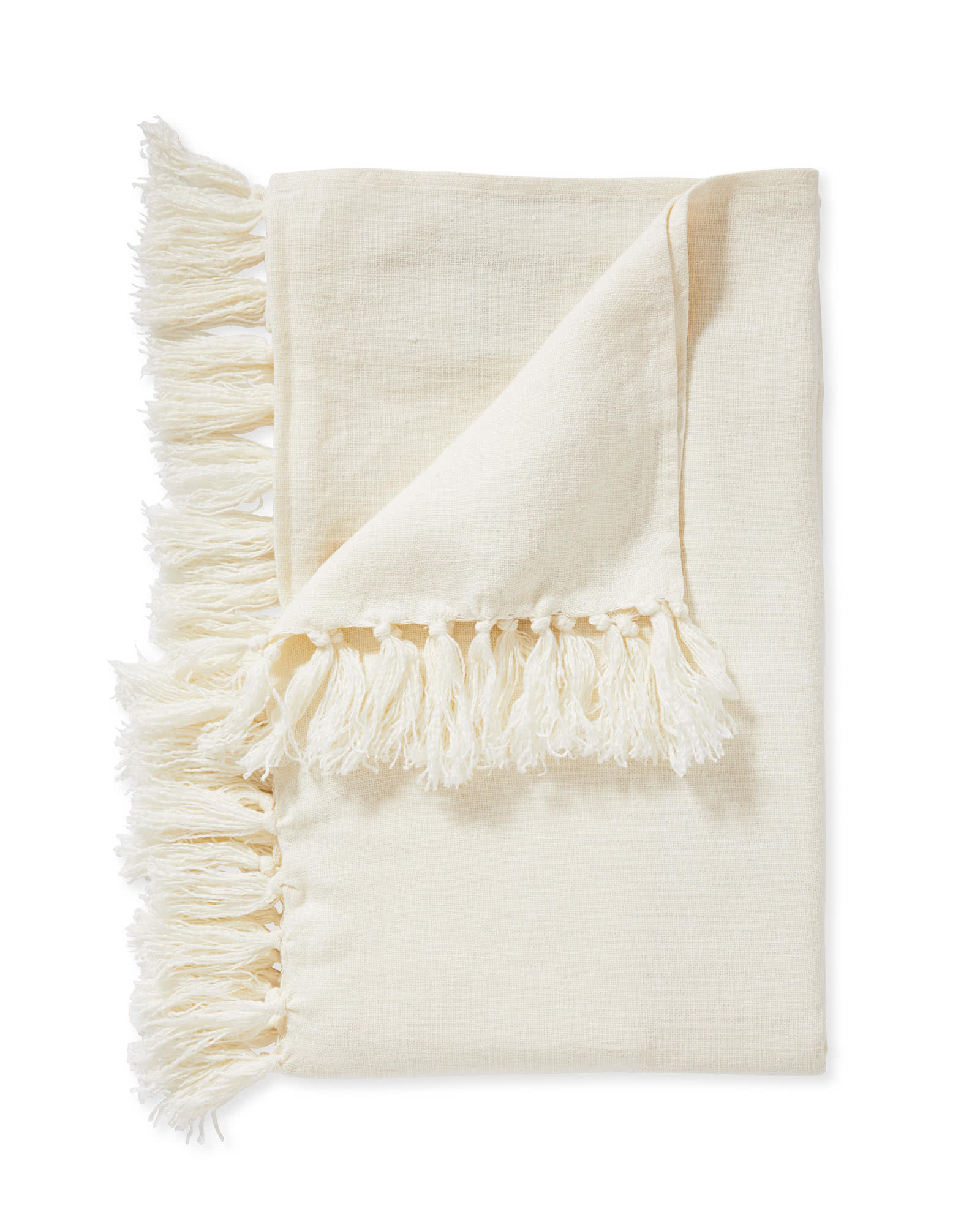 Mendocino Linen Throw, Ivory