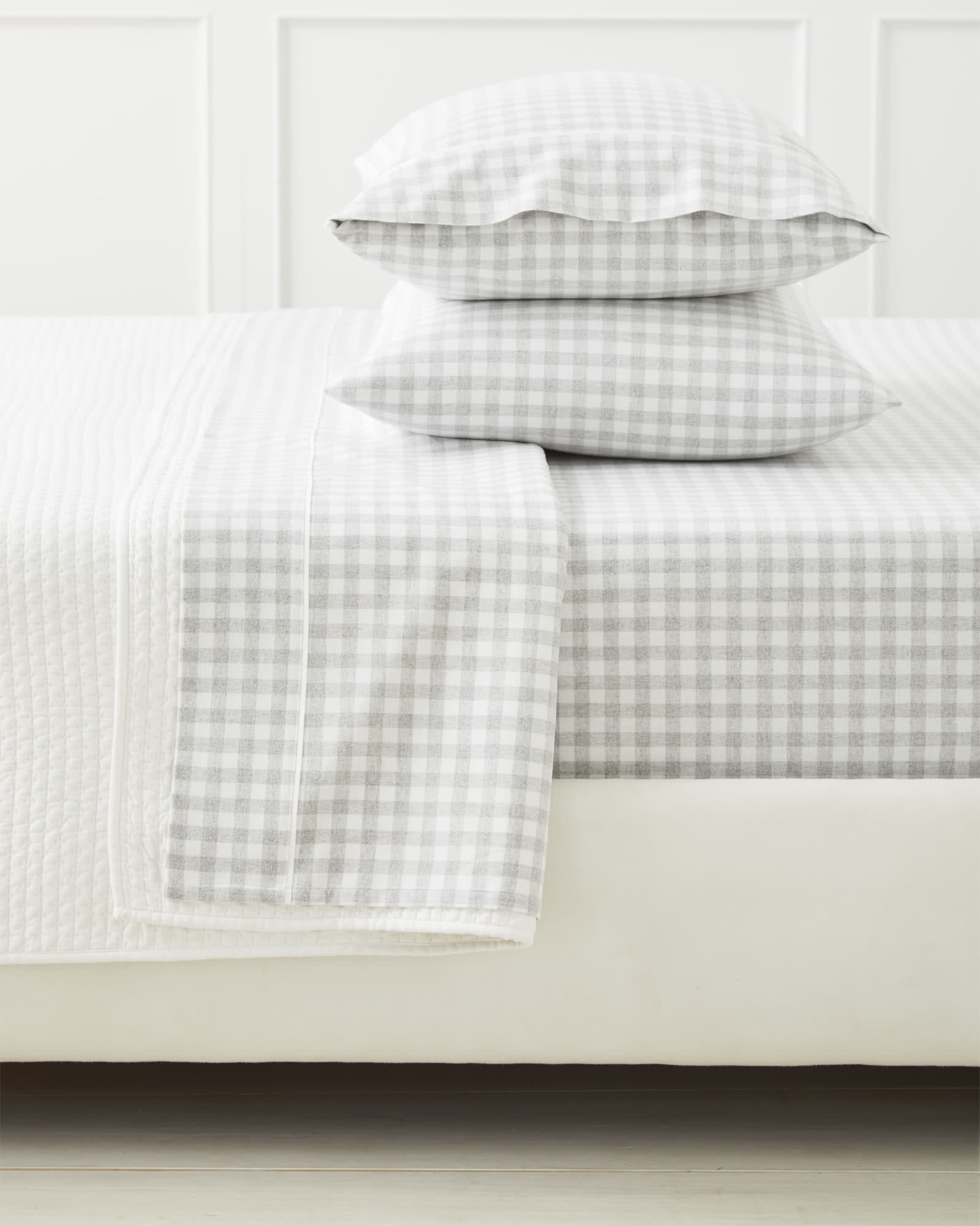 Dalton Flannel Sheet Set, Fog