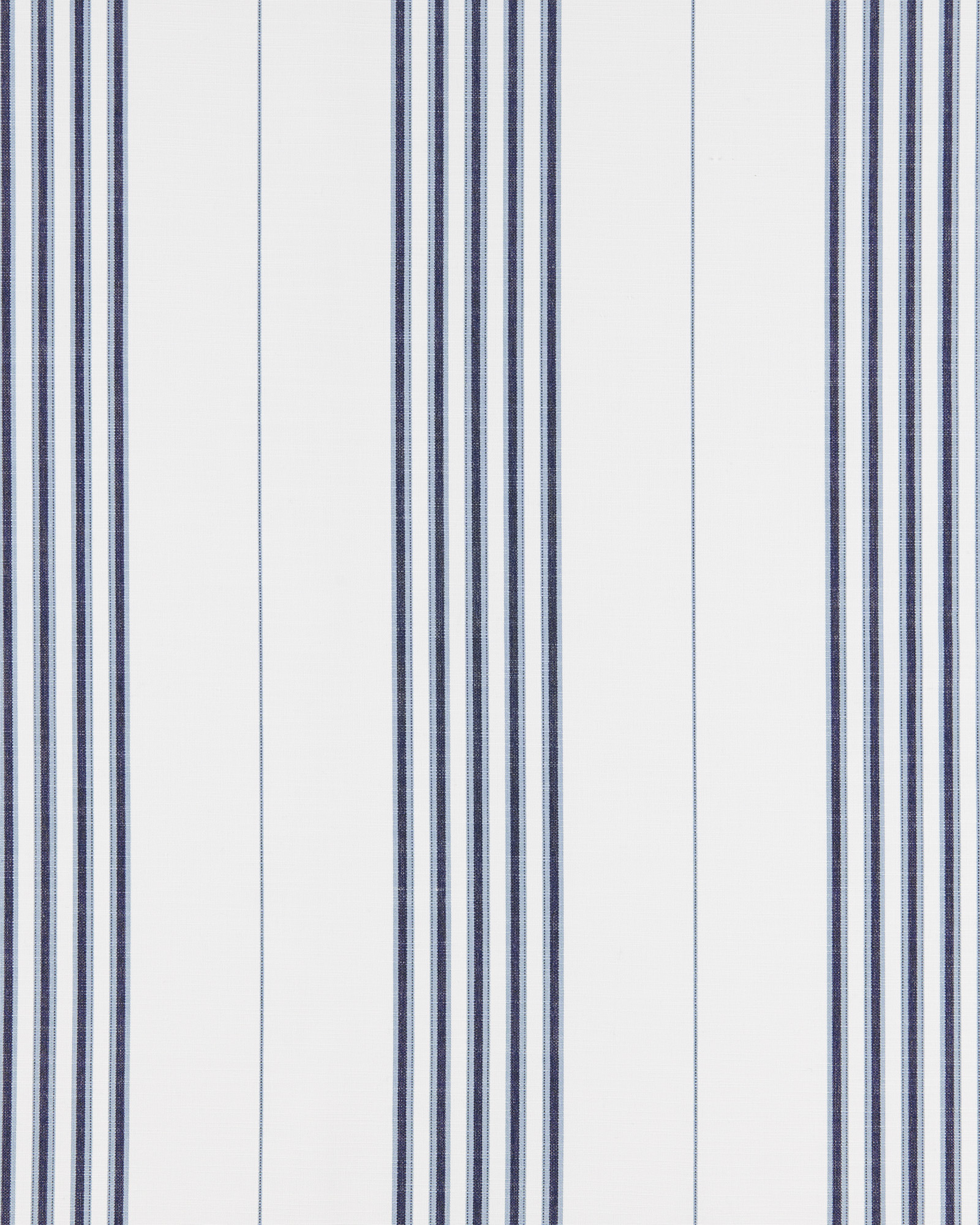 Fabric By the Yard - Perennials Lake Stripe Fabric, White/Navy