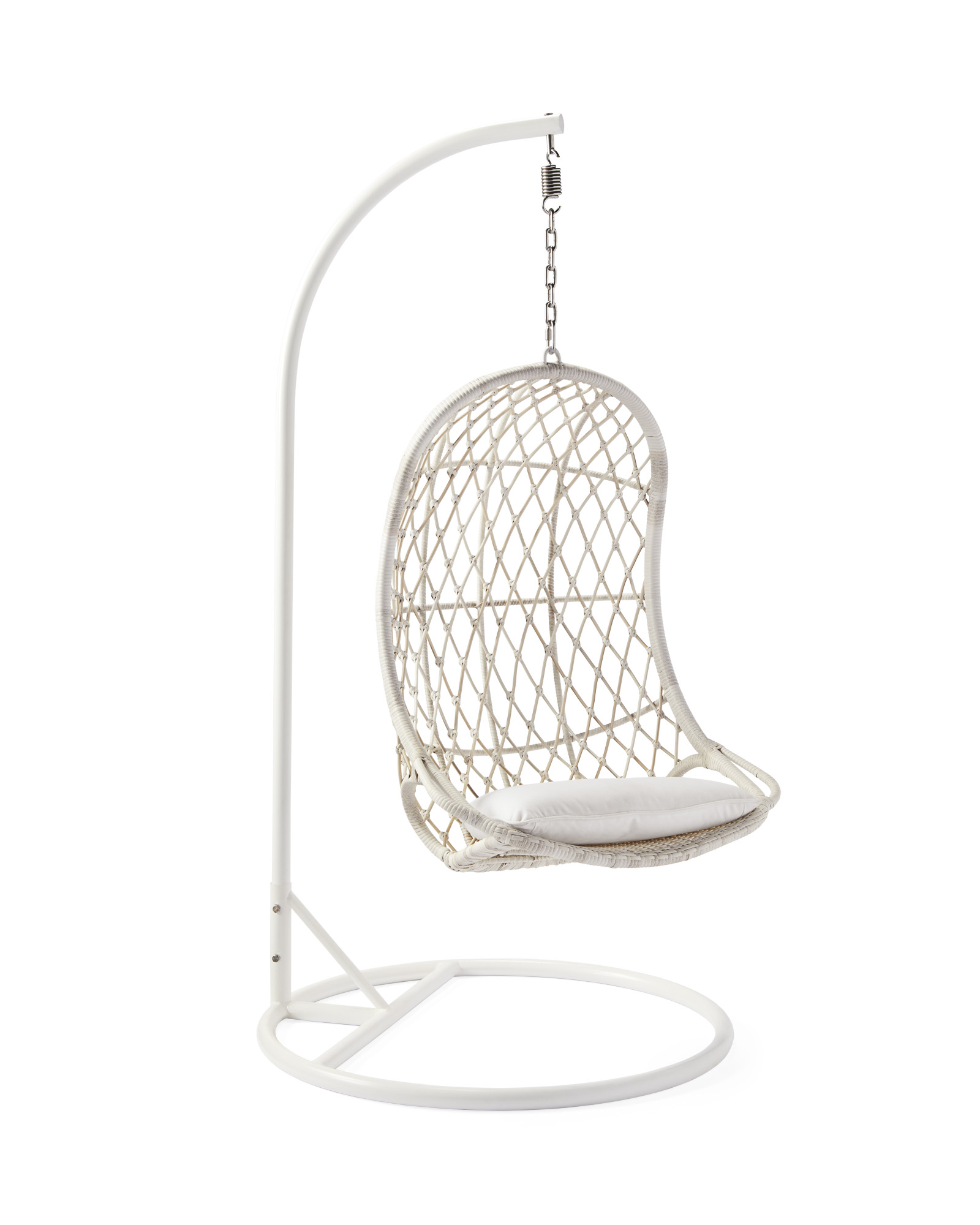 Capistrano Outdoor Hanging Chair & Stand, Driftwood