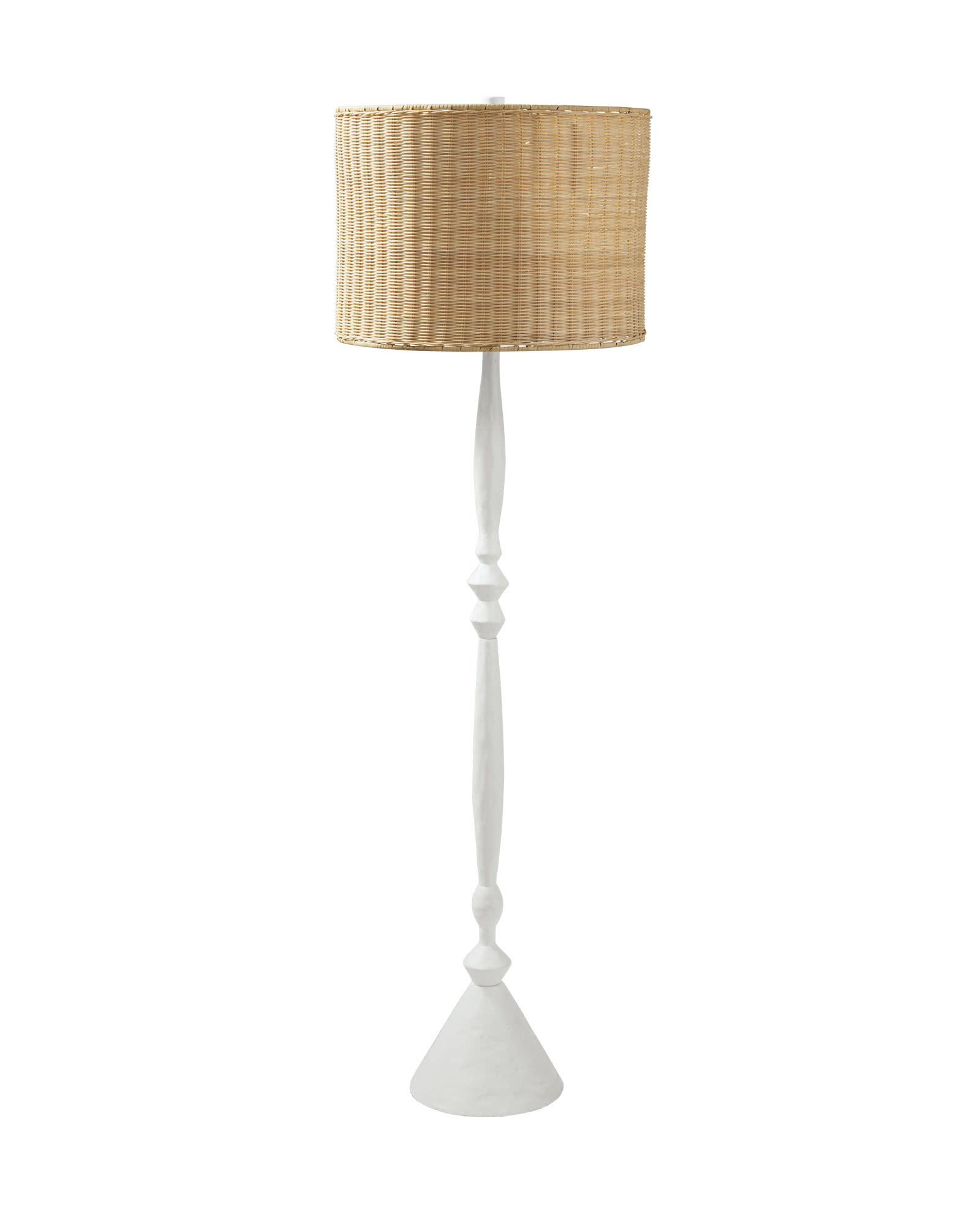 Brighton Floor Lamp, Wicker