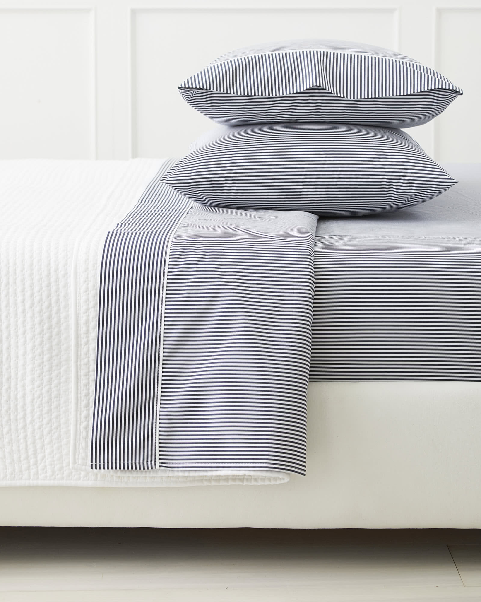 Oxford Stripe Sheet Set, Midnight