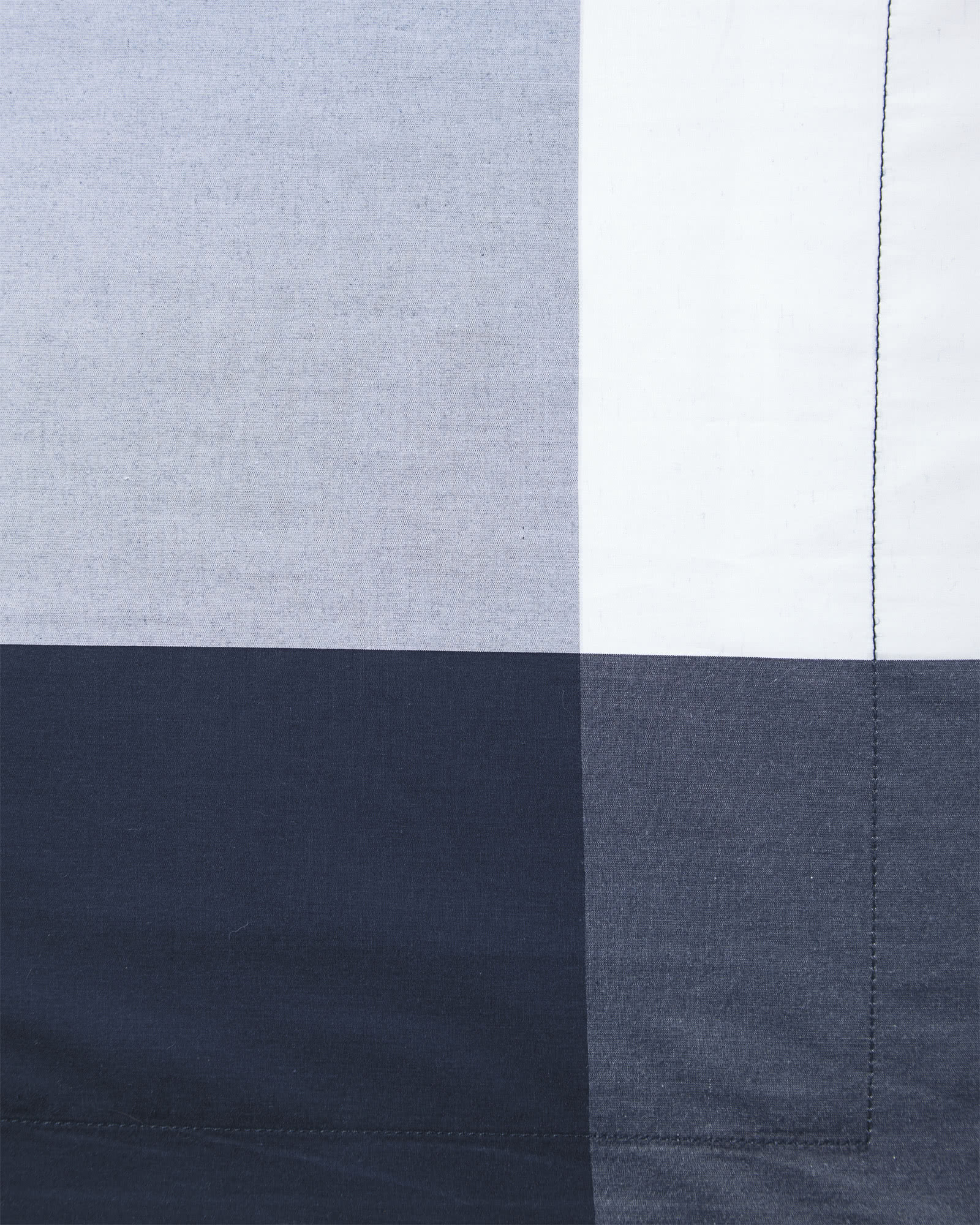Oversized Gingham Bedding Swatch, Midnight