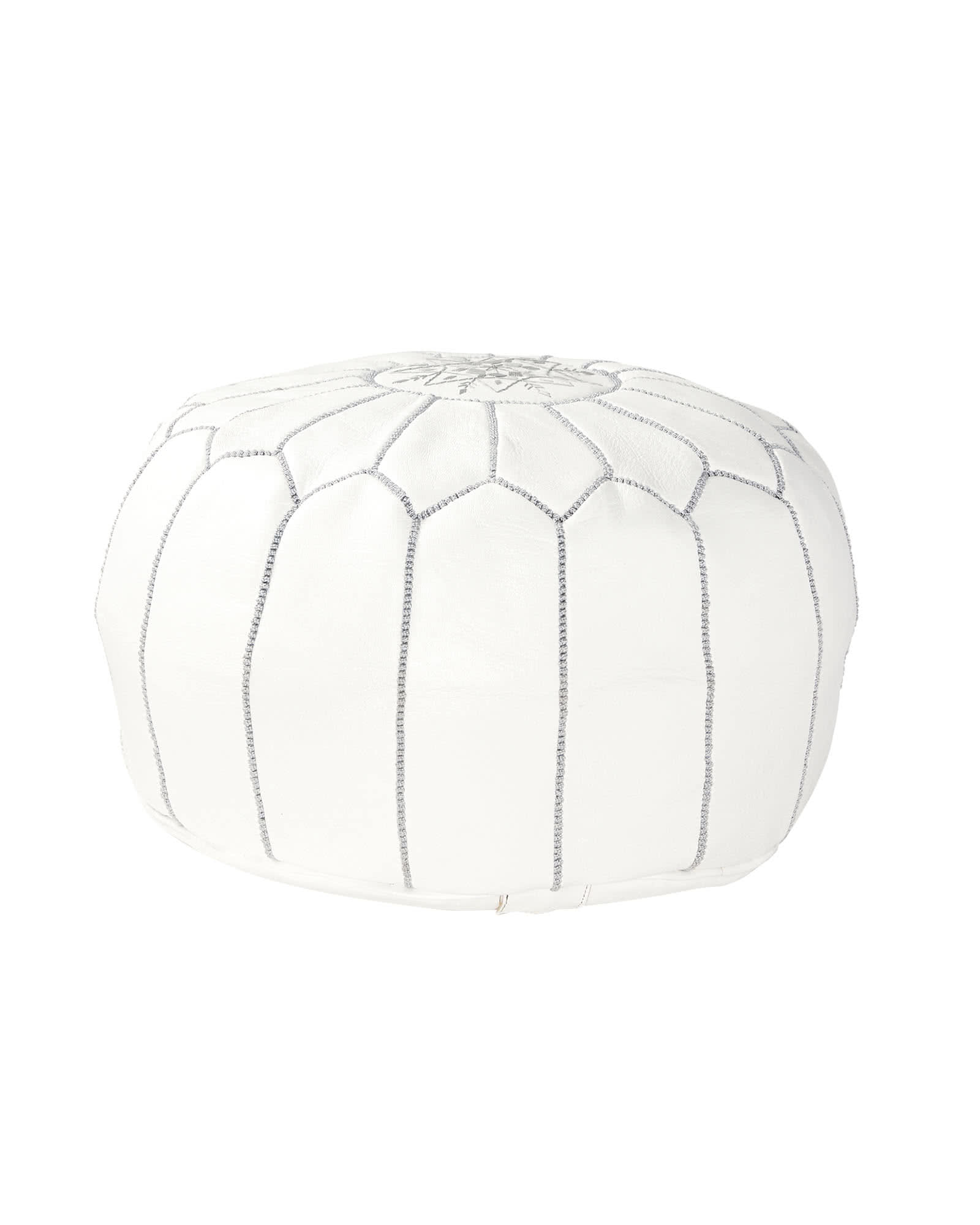 Moroccan Leather Pouf,