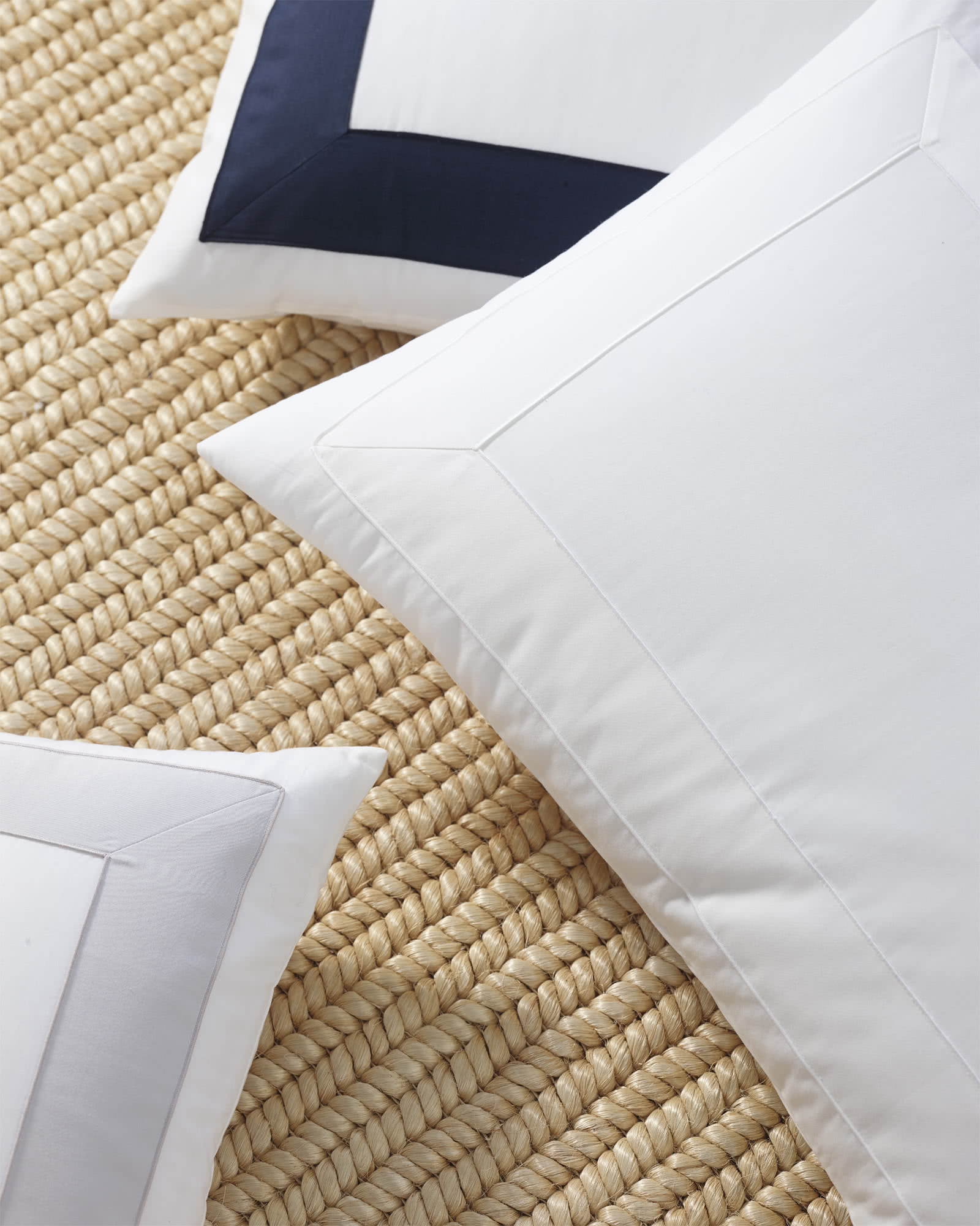 Beach Club Border Shams, White