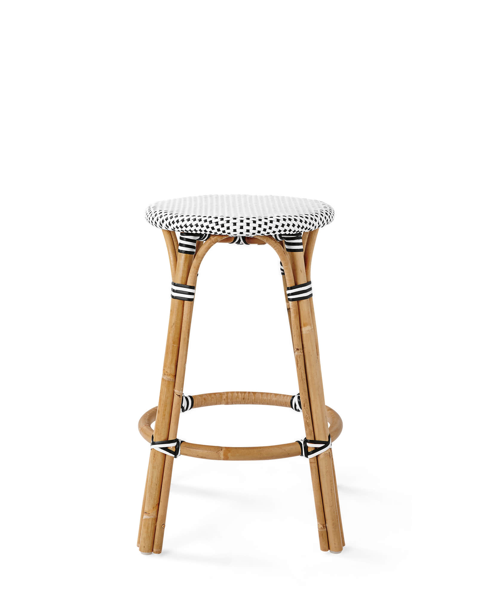 Riviera Backless Bar & Counter Stools, Black/White