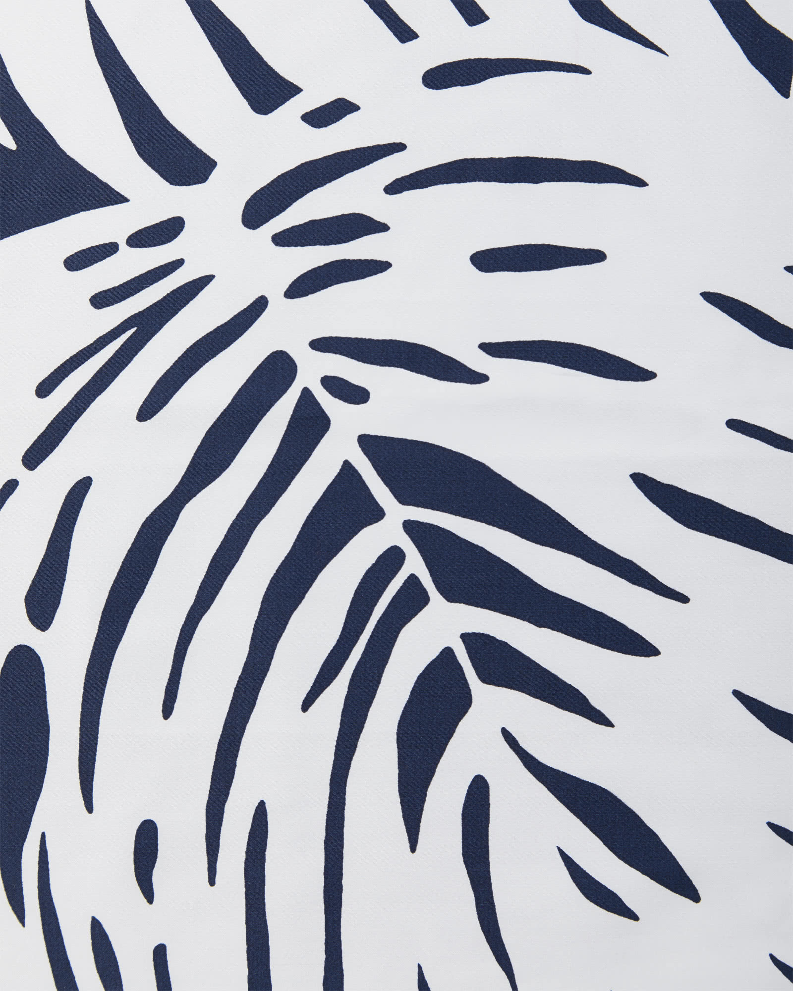 Palm Bedding Swatch, Navy